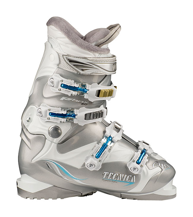 Ski Ladies, are you tired of your uncomfortable to wear ski boots that never seem to fit your feet right? Well, maybe it's time to find a company that specializes in ski boots for women. Time for you to check into the Viva collection. Here you can find the Tecnica Viva P60 Comfort Ski Boots White & Silver and you will feel the difference immediately. When on the slopes your going to find the fit and comfort like no other boot. You no longer have to be on the top of a snowy mountain and having boot issues because your a to women. These will give you comfort, warmth, convenience and performance are all part of this boot in the Viva collection. Viva P60 Comfortfit Ski Boots Tecnica: * 3 Density Technology * Viva Heel Cradle * Carbon Steel Buckles * Easy Move Cuff Catch * Triple Position Cuff CatchesKey Features of the Tecnica Viva P60 Comfort Ski Boots: 3 Density Technology Viva Heel Cradle Carbon Steel Buckles Easy Move Cuff Catch Triple Position Cuff Catches Viva Flared Scalloped Calf Viva Calf Adapter Construction Viva Velvet Fur Lining Tongue Handle Pull Strap Viva ComfortFit Liner - $241.95