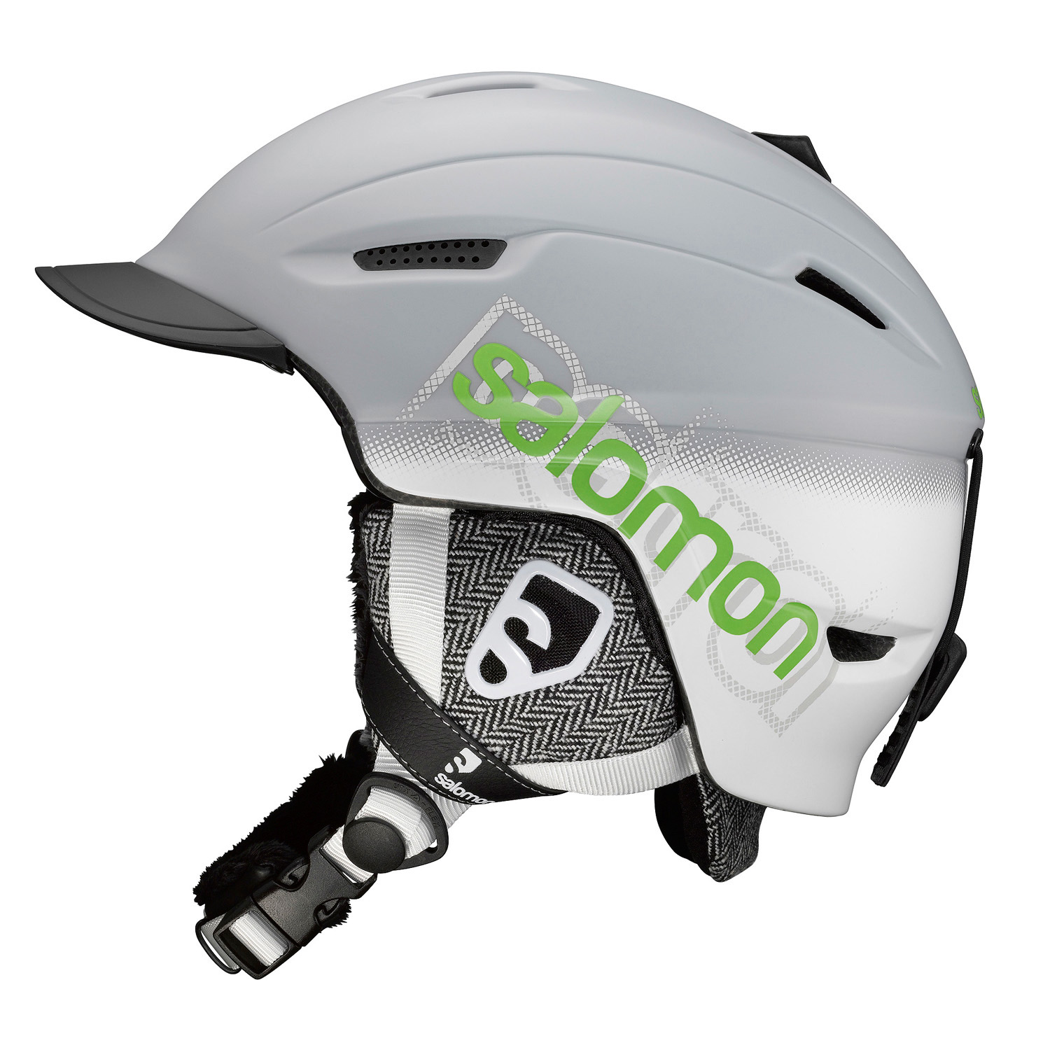Ski Key Features of the Salomon Patrol Ski Helmet: Half shell In-mold shell + EPS liner Beanie convertible liner Removable/washable Active ventilation Removable earpads Faux fur Removable visor - $89.95