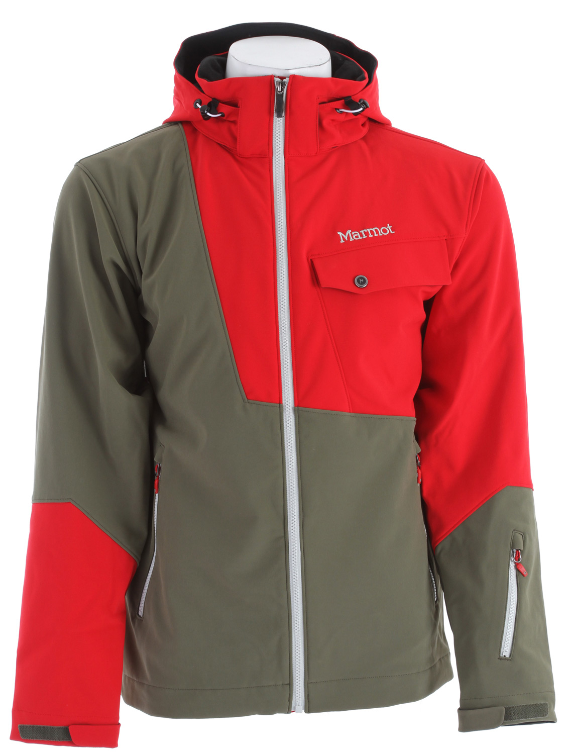 "Ski Key Features of the Marmot Erial Ski Jacket: Weight: 2 lb 4 oz (1021g) Materials: Softshell Bonded 88% Nylon/ 12% Elastane 8.1 oz/ yd Marmot M1 Softshell Windproof, Waterproof and Breathable 4-way Stretch Fabric Zip-off Storm Hood with Laminated Brim Zippered Handwarmer Pockets Flapped Chest Pocket with Zipper Zippered Waist Pass Pocket Zip-off Powder Skirt Zippered Sunglass Pocket Mesh Goggle Pocket Elastic Draw Cord Hem DriClime Lined Collar and Chin Guard Adjustable Velcro Cuff 29"" Center Back Length for Size Medium - $204.95"