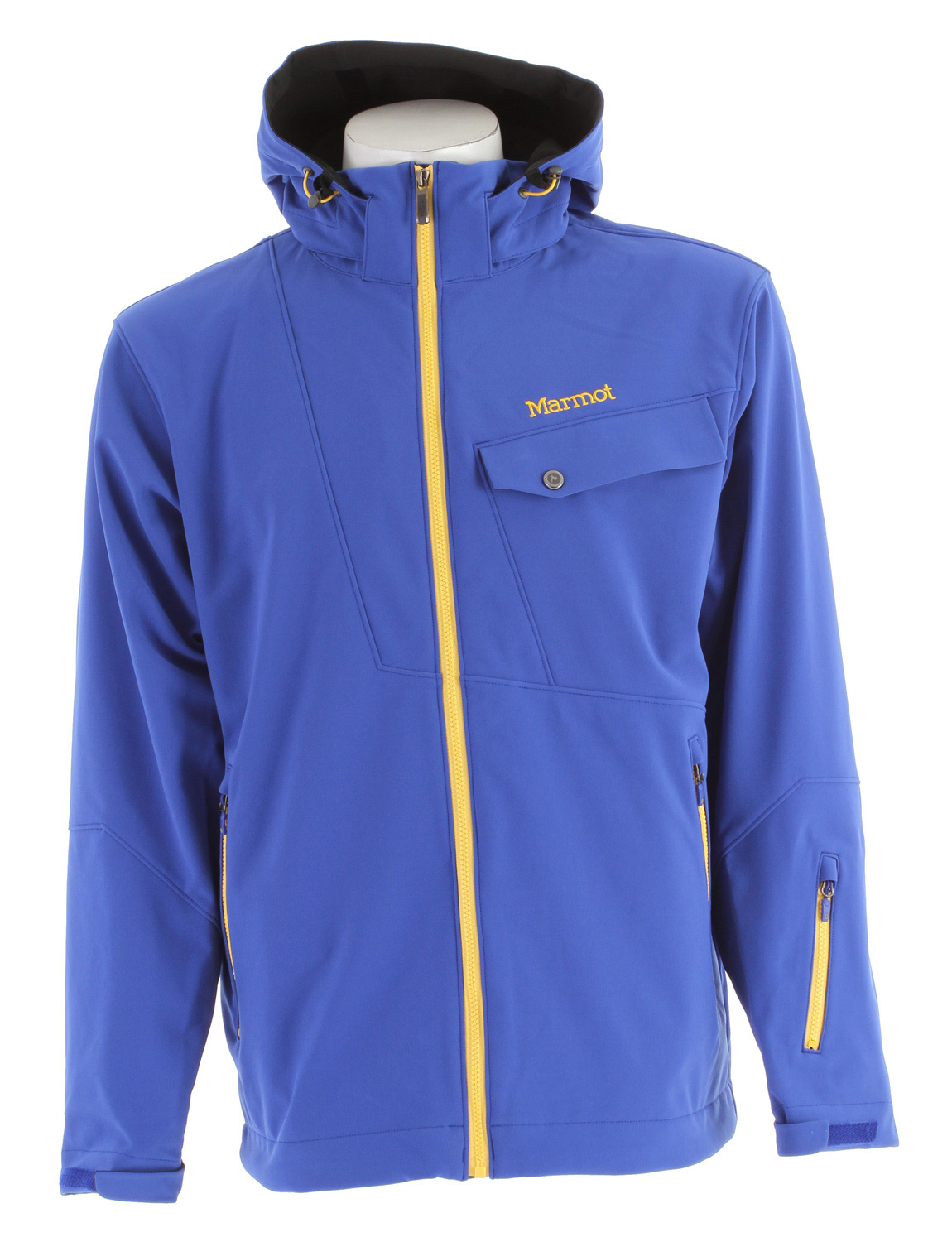 "Ski Key Features of the Marmot Erial Ski Jacket: Weight 2lb 4oz (1021g) Materials Softshell Bonded 88% Nylon, 12% Elastane 8.1 oz/yd Marmot M1 Softshell Windproof, Waterproof, and Breathable 4 way Stretch Fabric Zip-off Storm Hood with Laminated Brim Zippered Handwarmer Pockets Flapped Chest Pocket with Zipper Zippered Waist Pass Pocket Zip-off Powder Skirt Zippered Sunglass Pocket Mesh Goggle Pocket Elastic Draw Cord Hem DriClime Lined Collar and Chin Guard Adjustable Velcro Cuff 29"" Center Back Length for Size Medium - $204.95"