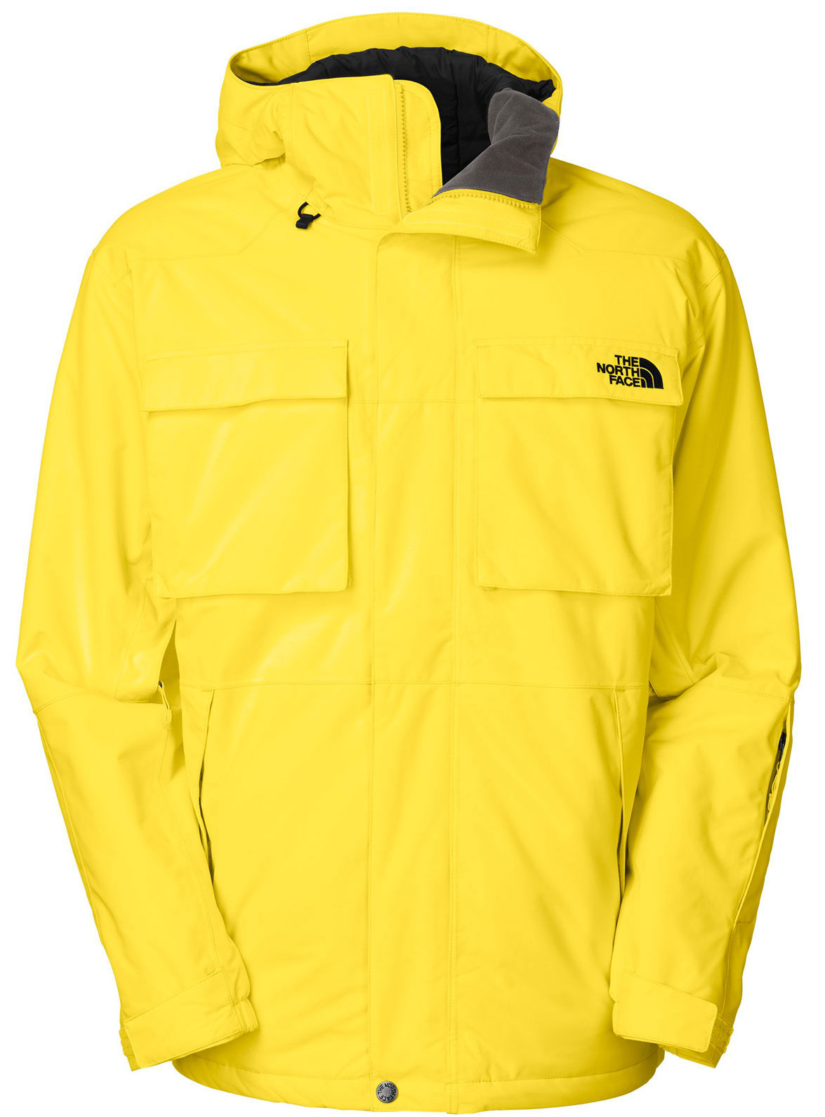 "Ski Take care of business on the mountain in this work-wear-influenced HyVent shell with a bold, three-colorblock design.Key Features of The North Face Decagon Ski Jacket: Avg Weight: 1100 g (38.8 oz) Center back: 30.25"" Fabric: shell: HyVent® 2L proweave Lining: taffeta, tricot, mesh Waterproof, breathable, fully seam sealed Adjustable fixed hood Pit-zip vents Zip hand pockets Flap chest pockets External media pocket Internal goggle pocket Wrist accessory pocket with goggle cloth Snap-down powder skirt with elastic gripper Hook-and-loop adjustable cuffs Adjustable hem system - $146.95"