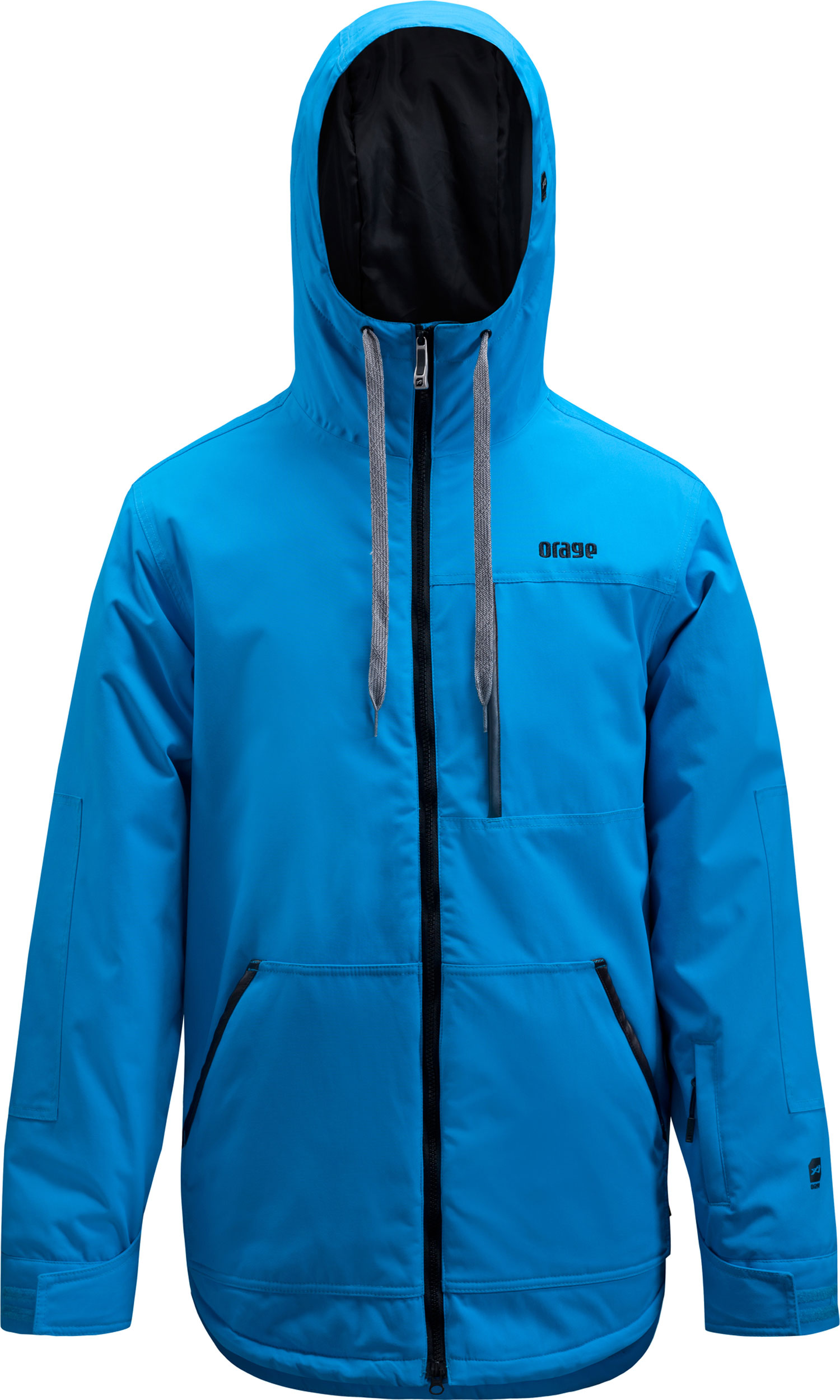 Ski Key Features of the Orage Flux Jacket: Prime 10: Canvas 2 ply 100% Nylon, ECO DWR 80/10, 185g/m2 Strategically seam sealed Powder skirt Lining with fleece panel insert Antimicrobial hand cuffs - $148.95