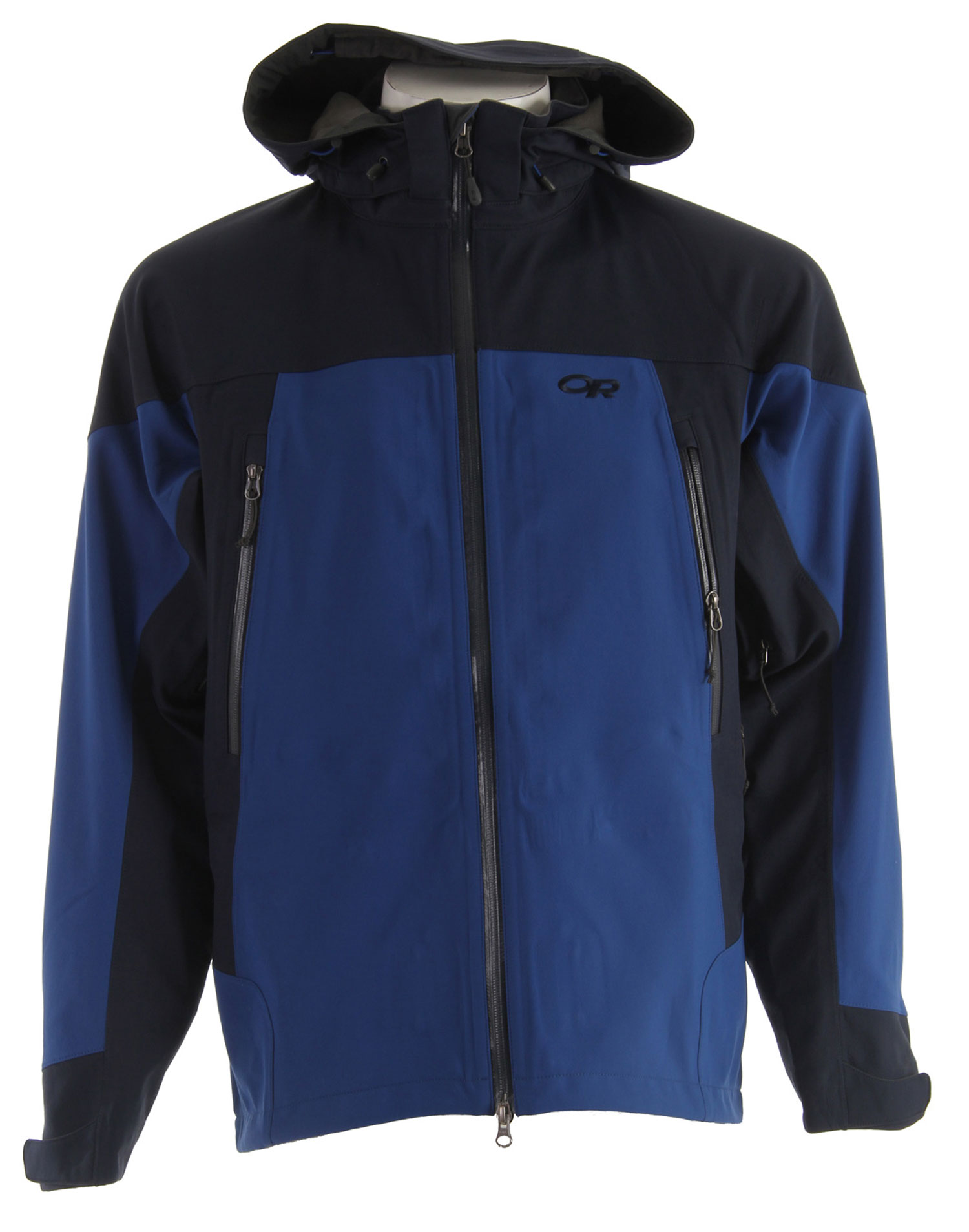 Ski The Outdoor Research Motto Ski Jacket's soft shell warmth and breathability combine for protection and comfort while skiing in deep powder conditions.* Ventia Dry Construction * Fully seam taped waterproof/ breathable Ventia softshell fabric with warm, fleece interior * Water-resistant zippers * Zip-off, fully adjustable hood fits over helmet * Brushed tricot-lined collar * Double-separating front zipper with internal stormflap * Double-sliding pit zippers for ventilation * Zippered internal pocket with media port; two zippered hand pockets * Large, zippered rear stash pocket * Zip-out, mesh powder skirt with gripper elastic * Hook/ loop cuff closures * Dual drawcord hem adjustments - $151.95