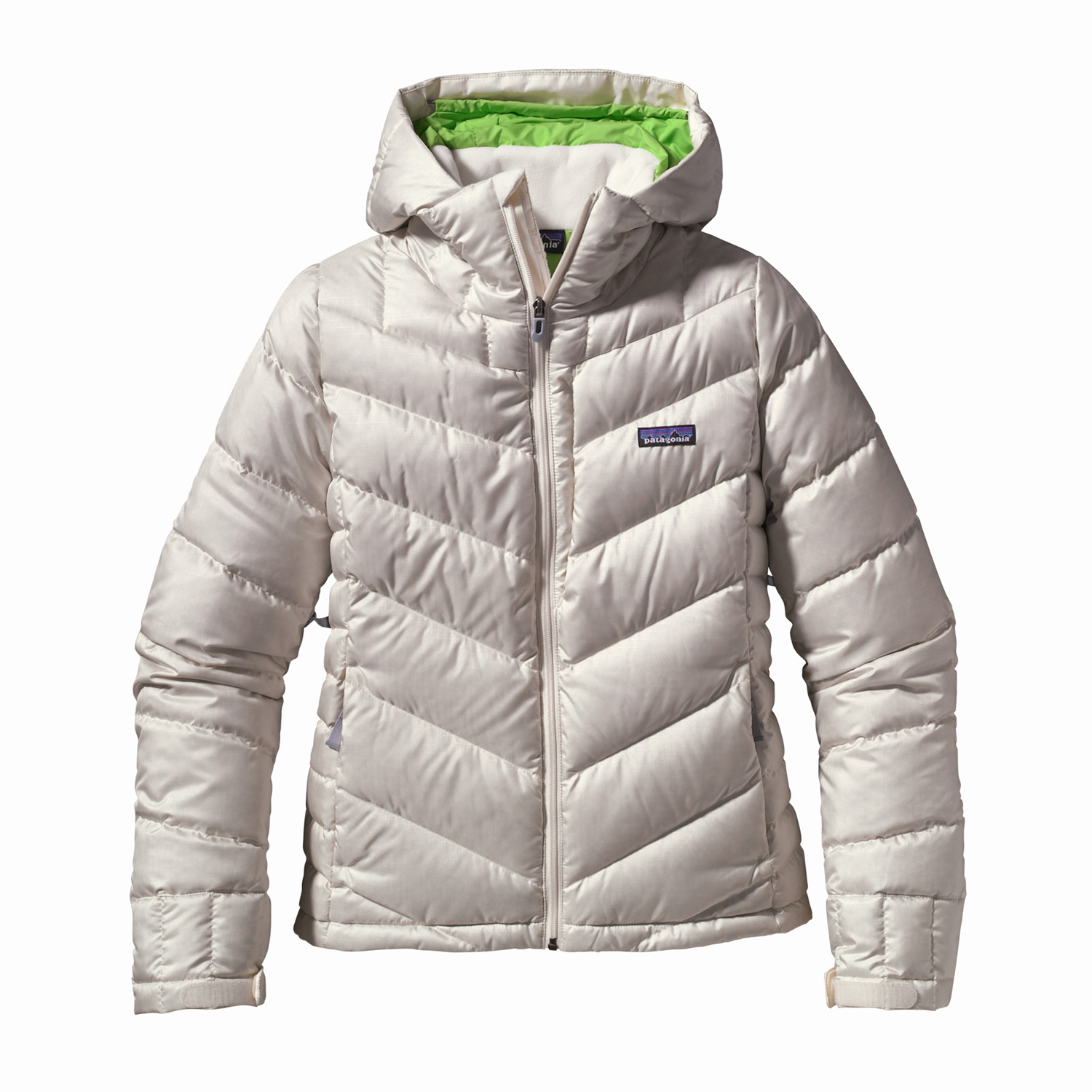 Ski The Patagonia Pipe Down Ski Jacket is a cute down jacket, made of polyester ripstop, and insulated with 600-fill-power goose down provides warmth for all-day riding.Key Features of the Patagonia Pipe Down Ski Jacket: Soft polyester ripstop shell with a light water-resistant coating, and a Deluge DWR (durable water repellent) finish to resist moisture and wet snow 600-fill-power goose down insulation is plush, compressible and very warm Fixed helmet-compatible hood with single-hand drawcord adjustment; high fleece-lined collar protects against wind and snow, keeps neck cozy and warm Pit zips quickly release heat; articulated arms improve mobility Removable powder skirt is adjustable and fully featured; webbing loops connect to any Patagonia Ski/ Snowboard Pants to keep the snow out and the skirt down Pockets: Two handwarmers, one chest, one interior drop-in and one interior zippered; includes secure, interior media pocket with cable routing Hem can cinch for extra chilly days; drawcord exits into hand pockets for easy adjustments Regular fit (25.2 oz) 714 g Fabric: 2.1-oz 100% microdenier 100% polyester ripstop with a light water-resistant coating and a Deluge DWR finish. Lining: 2-oz 100% polyester plain weave. Insulation: 600-fill-power premium European goose down - $197.95