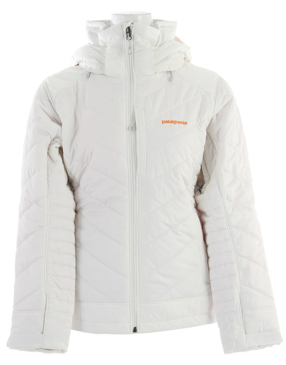 Ski The Rubicon Rider is a soft-yet-durable jacket for the core, 100-plus-days skier or boarder.Key Features of the Patagonia Rubicon Rider Ski Jacket: Regular fit fabric: Shell: 2-layer, 4.2-oz 75-denier 100% polyester ripstop with a Deluge® DWR (durable water repellent) finish. Reinforcements: 2-layer, 4.8-oz 75-170 denier 100% recycled polyester with a waterproof/breathable H2No® barrier and a Deluge DWR finish. Lining: 2-oz 100% polyester plain weave. Insulation: 150-g Thermogreen® 100% polyester (90% recycled) Soft polyester ripstop fabric is breathable and water-resistant; 2-layer waterproof/breathable reinforced H2No panels over shoulders, elbows and bottom hem prevents wet-through and increases durability Lightweight, compressible 150-g Thermogreen polyester stays warm even when wet; quilted construction reduces bulk Removable helmet-compatible hood has an easy-to-use, single-hand adjustment; high fleece-lined collar keeps neck cozy and protected Pit zips off-load heat; articulated arms increase mobility Removable powder skirt, with snap secures webbing loop at center back and connects to any Patagonia® Snow pants to keep snow out Pockets: Two handwarmers, one chest, one interior drop-in and one interior zippered; includes secure, interior media pocket with cable routing - $208.95