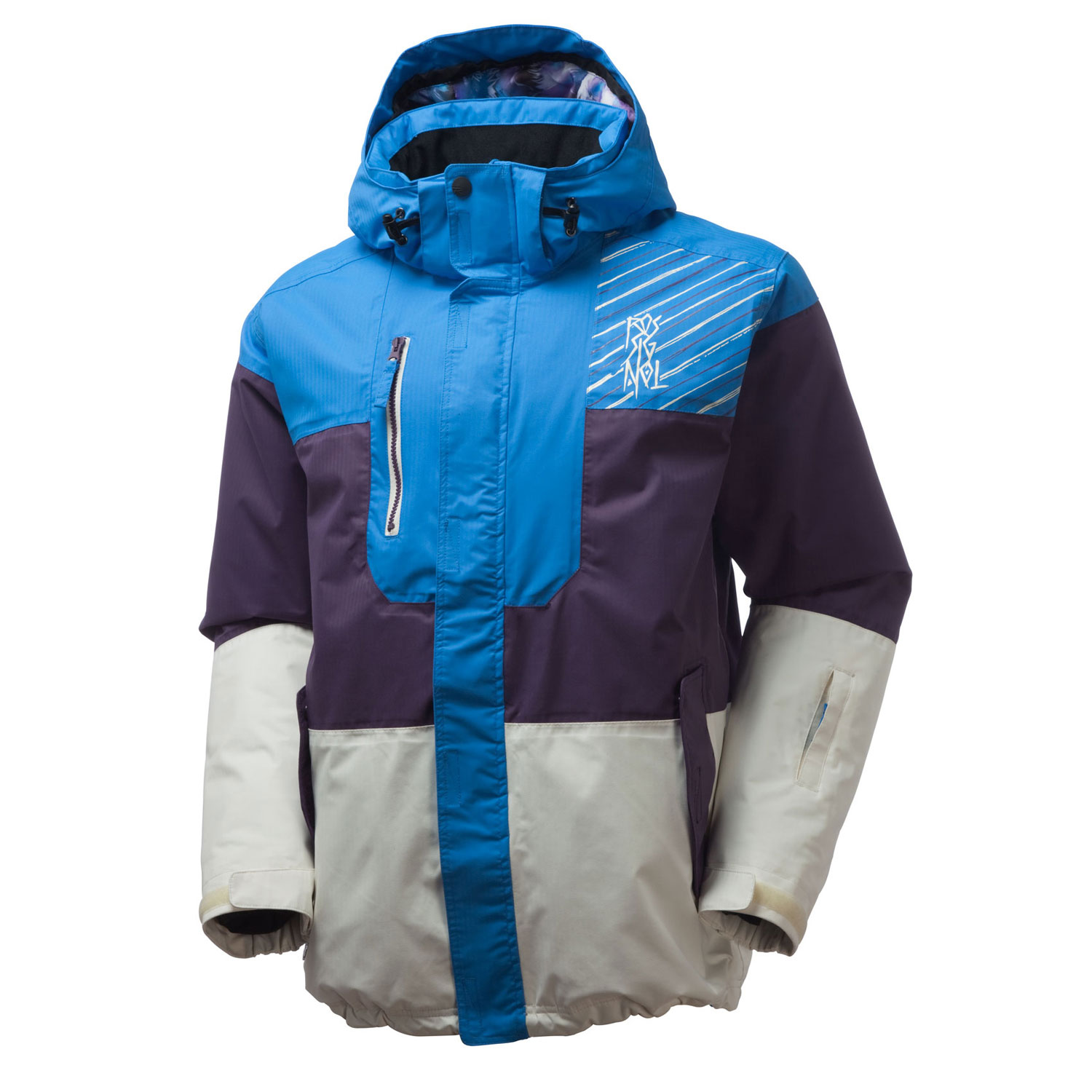 Ski The Angry Jacket from Rossignol will leave you with nothing to be angry about. In fact, you will be warm and comfortable in this stylish and practical jacket ideal for snowboarders, skiers and even kids who just love being outdoors in the winter. The jacket is waterproofed with a polyester shell and includes insulation in both the body and sleeves of the coat to make sure you are dry and warm. A removable hood, Rossignol's Aligaiter system (to attach jacket to pants) make this jacket ideal for a day on the mountain or a snowball fight in the yard.Key Features of the Rossignol Angry Ski Jacket: 5,000mm Waterproof 5,000g Breathability Herringbone Content: 100% Polyester Finish: Breathable coating Lining: Body 80g/Sleeves 60g - $153.95