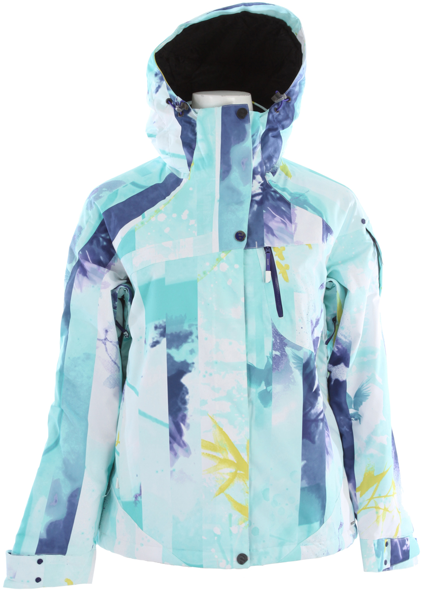 Ski Progressive design, insulated jacket for freeskiing girls who want to make a statement. Fully featured.Key Features of the Salomon Exposure Ski Jacket: ClimaPRO 10k/10k Actiloft insulation 100gr/M 100% Taped Removable zip off hood with 3D Adjustment Air vent system with mesh backing removable powderskirt Snap in connection with pant Storm pocket Relax fit - $195.95