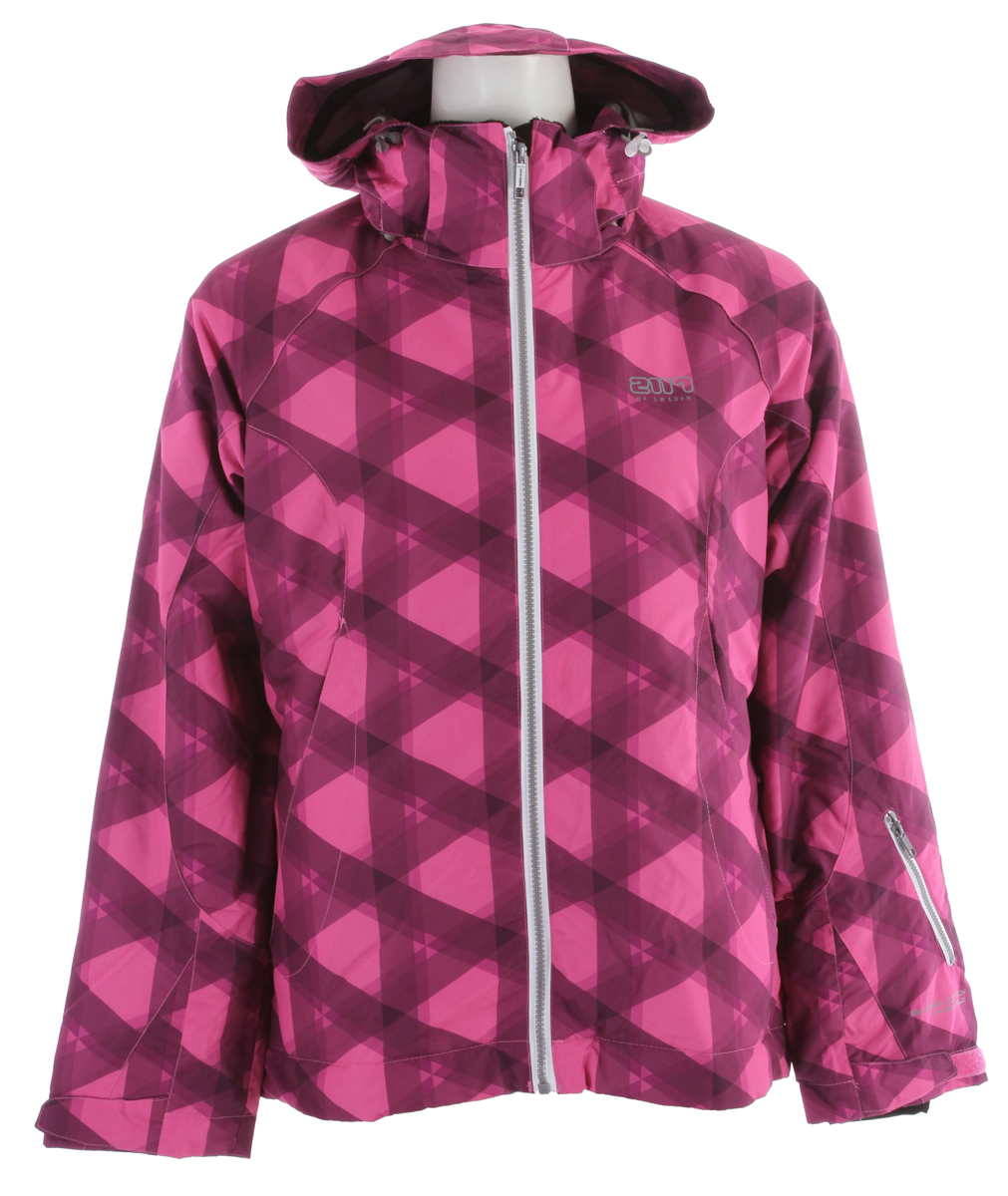 Ski The Uppland Ski jacket has a luxurious face fabric that is quiet and subtle. The on-mountain specific details like removable powder skirt with rubber taping to keep it from riding up while you're riding down, zippered pit zips will allow to dump excess heat to keep you cool in height of the day and 4-way stretch comfort cuffs will keep the snow out of those prominent hot spots. Complimented by the technical features of our Shieldtex waterproof/breathable fabrics fends off soggy snow while allowing sweaty vapors to escape from within from dawn to dusk. When the chill of the day rolls in for the evening you will be rocking the Uppland Jacket with the faux fur trim zipped up to your ears for the ultimate hug. Key Features of the 2117 Uppland Snowboard Jacket: 8,000mm Waterproof 3,000g Breathability Light padded Snowboard jacket Two side pockets Snowboard card pocket on lower left sleeve Elastic cuff in sleeve end Drawstring ni waist Snow gaiter Removable hood - $77.97