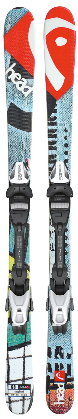 Ski Key Features of the Head Souphead LR Skis w/ LRX 4.5 Bindings: Lengths: 87/97/107/117/127/137 Dimensions: 104/68/92 @ length 127 Radius: 9.4 @ length 127 Twin Tip Construction E Base Black Structured Surface Lite Rail Also available without Lite Rail Bindings: LRX 4.5 AC Groomed Slopes Terrain - $174.95
