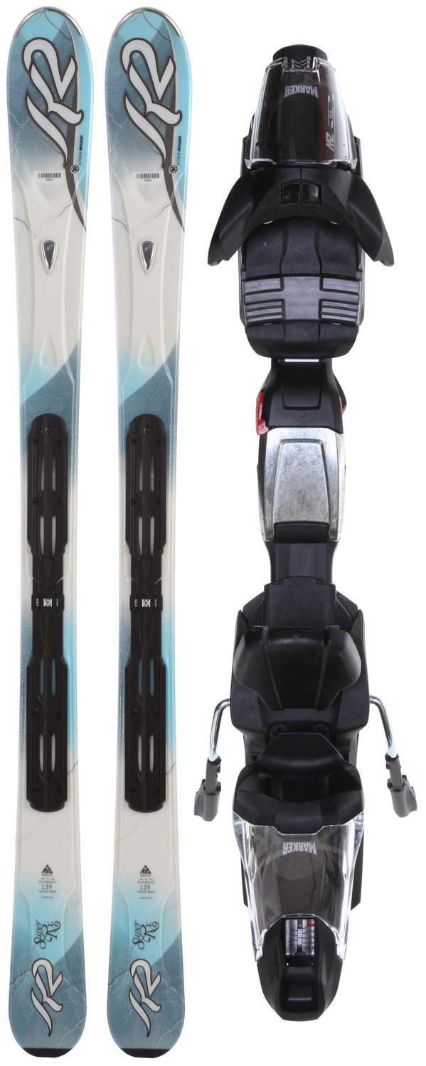 Ski K2 Super Rx Skis w/ Marker Fastrak3 10.0 Bindings - $299.95