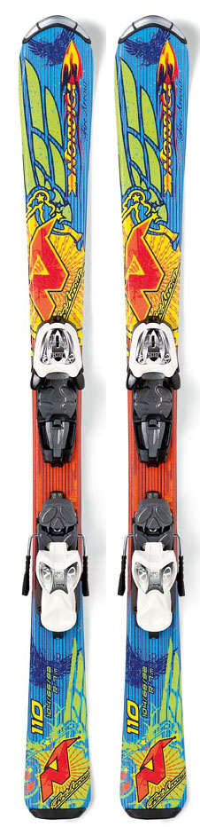 Ski First great ski for the next generation if skiers. A newly designed ski for beginner and intermediate little free riders that can learn to ski with these user-friendly reliable skis. Key Features of the Nordica Fire Arrow Team Skis w/ M7 Bindings: Ski Sizes: 70,80,90,100,110,120,130,140 Sidecut Radius: 3-4-5-6-7-8-10-12 Dimensions: 106/66/94 Ski Construction: Energy Frame Composite Type of Core: Composite Base Type: UHMW graphite sintered - $194.95