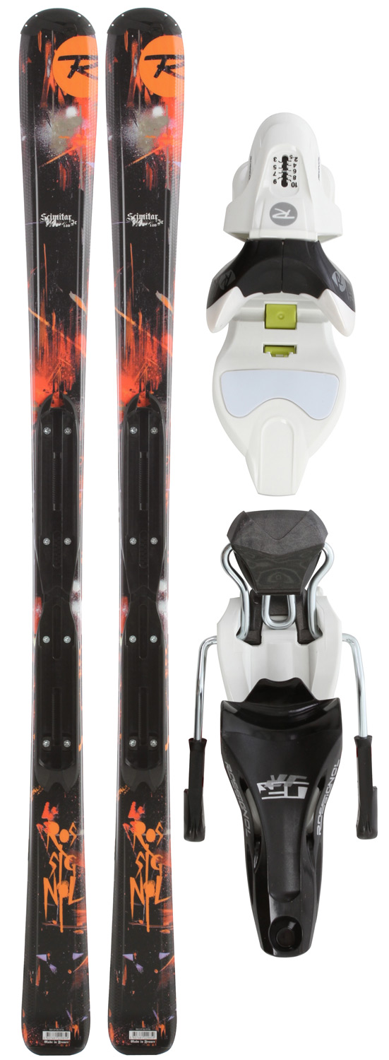 Ski Key Features of the Rossignol Scimitar Jr Skis: Structure: Rossitop Cap Core: Microcell Laminates: Fiberglass Sidecut: 100/65/87 Radius: 11.0M @ 130 - $161.95