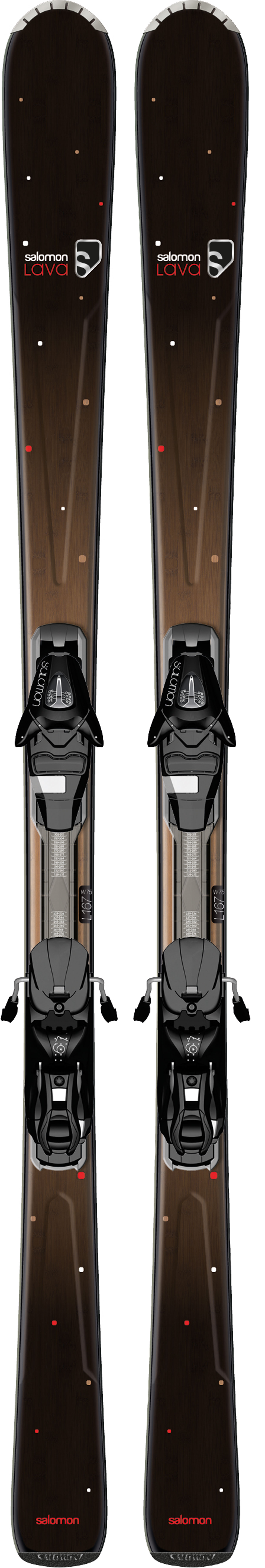 Ski Salomon Origins Lava Skis Black/Brown w/ L9 Bindings - $312.95
