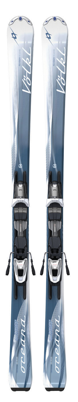 Ski Featuring our new Progressive technology, the Oceana is a fantastic new ride for novice to intermediate skiers. With a shape of 120-73-105, the Oceana provides a stable, easy platform, entering and exiting the turn with ease.Key Features of the Volkl Oceana Skis w/ Attiva Motion LT 10.0 Bindings: Sidecut: 120-73-105 Length(Radius): 141 (TBA), 147 (TBA)153 (12.0), 159 (12.9),166 (14.3) Composite Core Double Grip LT Attiva Motion LT 10.0 Bindings - $387.95