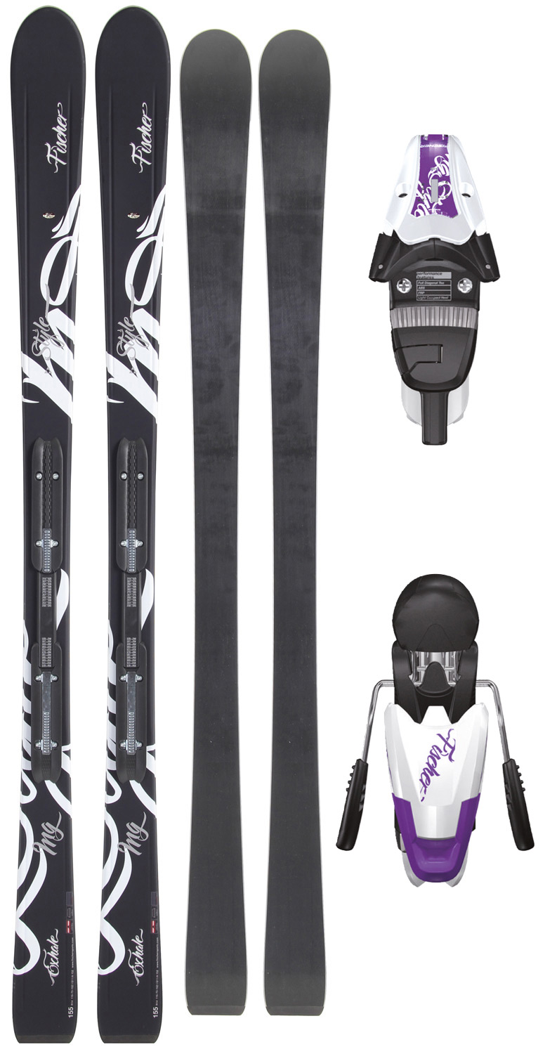 Ski For ladies who enjoy life: this ski with the ultralight Air Power construction ensures relaxed and safe skiing thanks to carbon laminates. The new My Style binding system is one of the lightest on the market.Key Features of the Fischer Exhale RF Skis w/ V9 RF My Style Bindings White/Violet: My Style: Fischer technologies united under one label. Air Power: Ski core with less density. The reduced ski weight means easier handling and less energetic skiing. Binding Mountain Point: Forward binding mounting point to make turning easier for energy-saving skiing. Rail My Style: Railflex integration system for the My Style range. Narrower and lighter than the unisex line. Sole only up to 330 mm (not 360 mm). Carbon Tech: Special network of carbon fibers with exceptional torsion properties and a balanced stiffness pattern at the same time. RADIUS: 14 m / 155 cm SIDECUT: 116 - 70 - 102 - $403.95