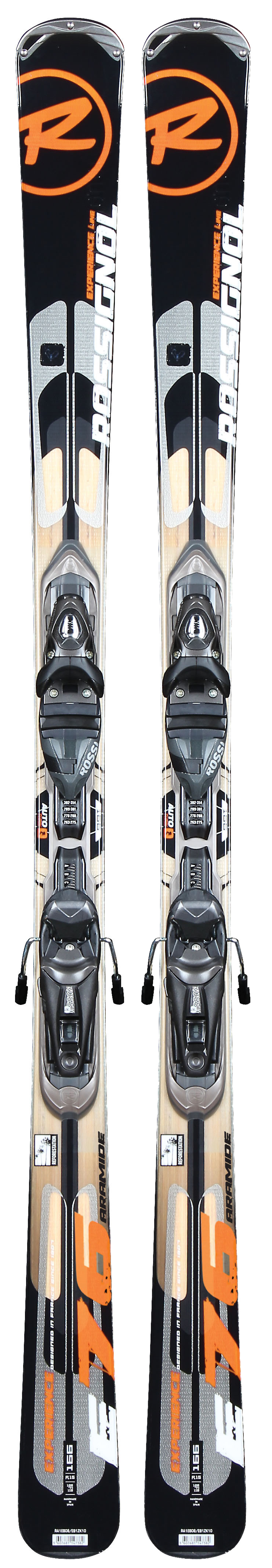 "Ski Experience is the gold standard of a brand new breed of all- mountain performance skis. Experience features all of the latest technologies and designs to deliver more on-trail and off-trail performance, greater versatility and more maneuverability to skiers of all levels than any other ski ever. Experience's unique combination of AutoTurn Rocker, Extended Sidecut, Cascade Tip and wider waist widths delivers easier turning and carving on groomers and in powder, more stability in all conditions, and an enhanced ski experience beyond compare. Never before has an all-mountain ski performed so well and so easily in all terrain types and in any conditions. Developed for skiers of all levels for top performance in all conditions. experience the newest benchmark in ""one-ski-quiver.""Key Features of the Rossignol Experience 76 Aramide Tp12 Skis w/ Axium 110 Bindings: AutoTurn Rocker: 70% traditional, high camber underfoot while remaining 30% of the tip and tail feature low rocker. Camber underfoot delivers power, energy, and edge grip for groomed run performance. Subtle rocker tip and tail delivers easy steering and effortless speed control for versatility in any terrain or snow type Extended Sidecut: Sidecut continues beyond contact point where tip and tail rocker start as speeds and edge angles increase more sidecut is engaged for powerful full-length edge grip. At lower speeds and edge angles sidecut is less engaged for more maneuverability and ease Structure: Rossitop Cap Core: Wood Laminates: Aramide/Fiberglass Sidecut: 121/76/111 Radius: 17.2M @ 176 Size: 136, 146, 156, 166, 176 System: Tpi2/Axium 110 L - $324.95"