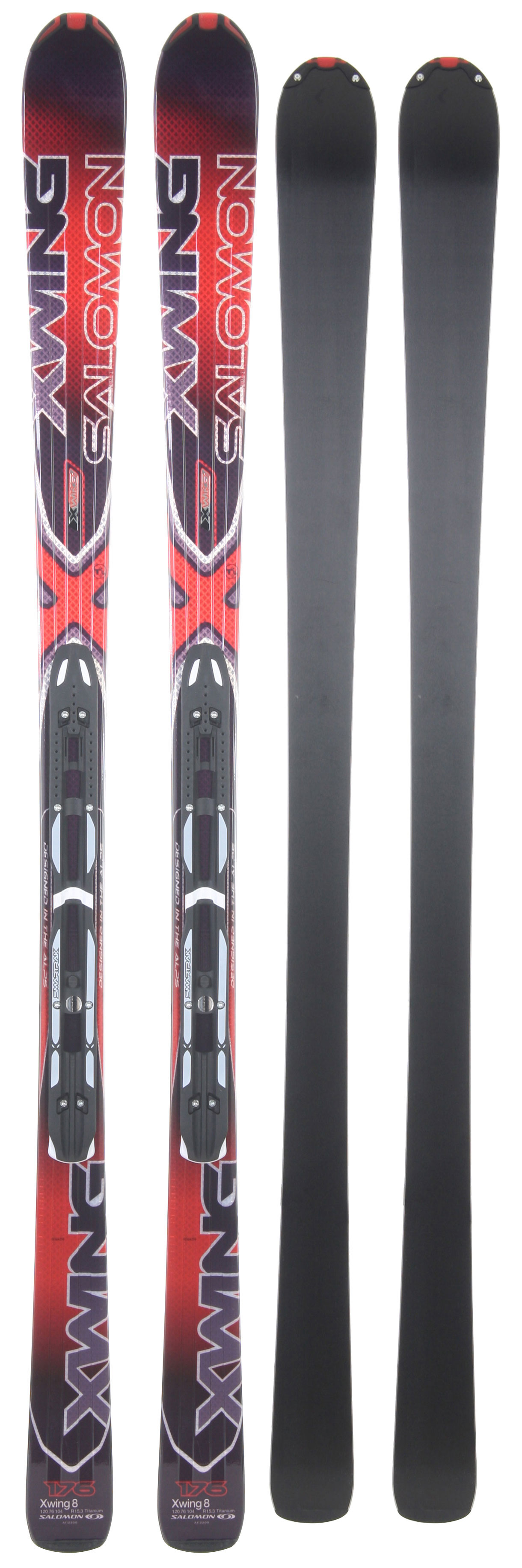 Ski Salomon X-Wing 8 skis are an all-mountain downhill ski built to satisfy the needs of intermediate and advanced riders. With a lightweight design, thanks to space frame technology and monocoque lite single-wall construction, and an over-shaped sidecut X-Wings are able to handle an terrain. As you shred through deep power or cascade down steep trail you can feel confident you will be in control and riding smoothly. The included Z-Concept bindings are also specially designed to enhance the ski experience by increasing the ability to turn and stay in control.Key Features of The Salomon X Wing 8 Skis w/ 711 Bindings: M Chassis 3D Stealth Tip V.R.M. - Variable Radius Management Pulse Pad/+ Oversize Pulse Pad: Elastromer Layer All Along the Edge and/or Along the Whole Front Part of the Ski PTex 2000: High Molecular Denisty Base TI Laminate: A Single Layer pf Titanium Reinforcement for Great Edge Grip. Efficient Energy Transfer and Liveliness Composite: Combination of Fibers Monocoque Lightrak 711 Bindings - $460.95