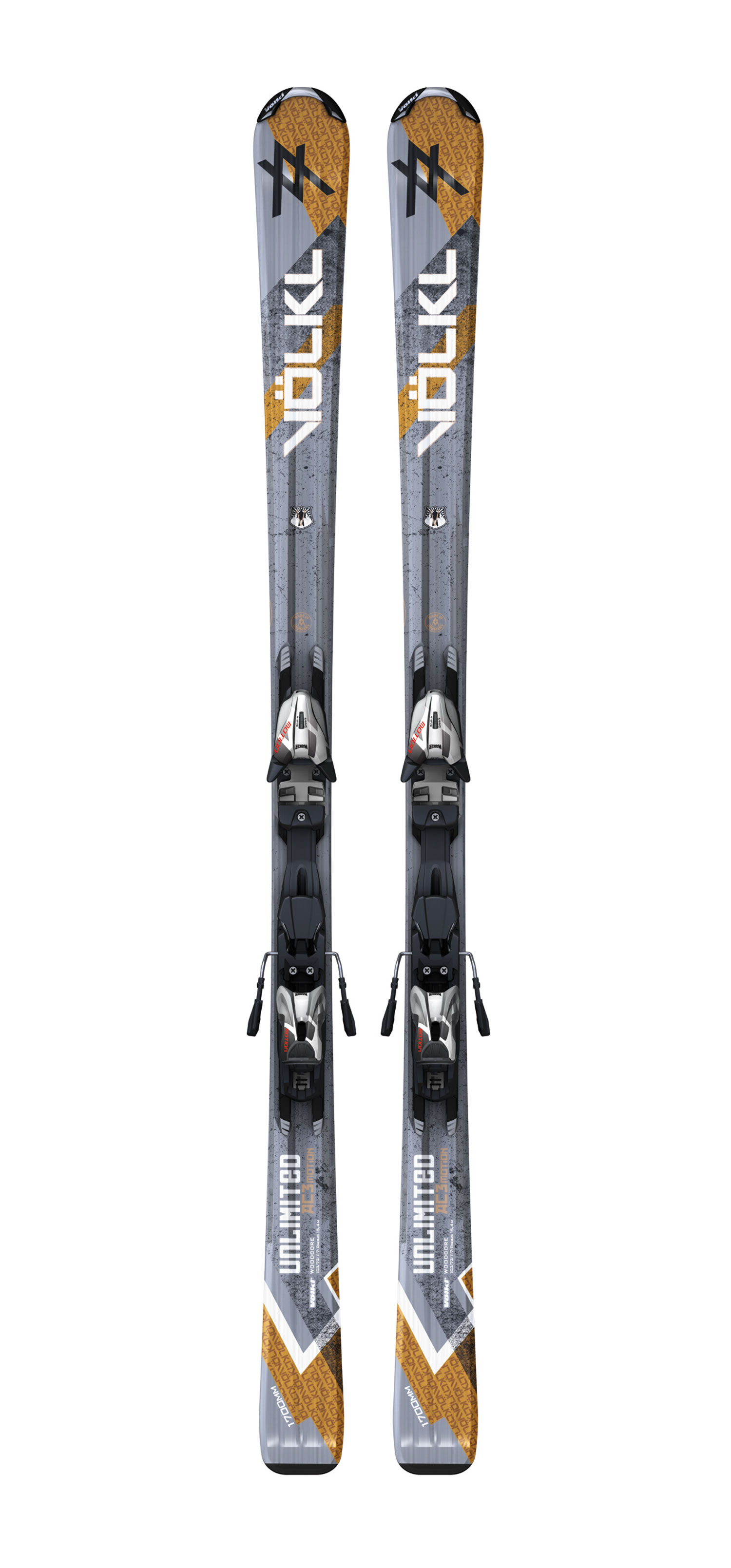 Ski With a new shape of 120-73-105, the re-designed Unlimited AC relies on Progressive Technology to give intermediate skiers effortlessly easy turning and comfort. The AC flows in and out of the turn with ease, but in the middle of the turn the skier feels rock-solid grip.Key Features of the Volkl Unlimited AC Skis w/ Motion LT 10.0 Bindings: Sidecut: 120-73-105 Length(Radius): 153 (12.0), 159 (12.9),166 (14.3), 173 (15.8) Composite Core Double Grip LT Motion LT 10.0 Bindings - $355.95