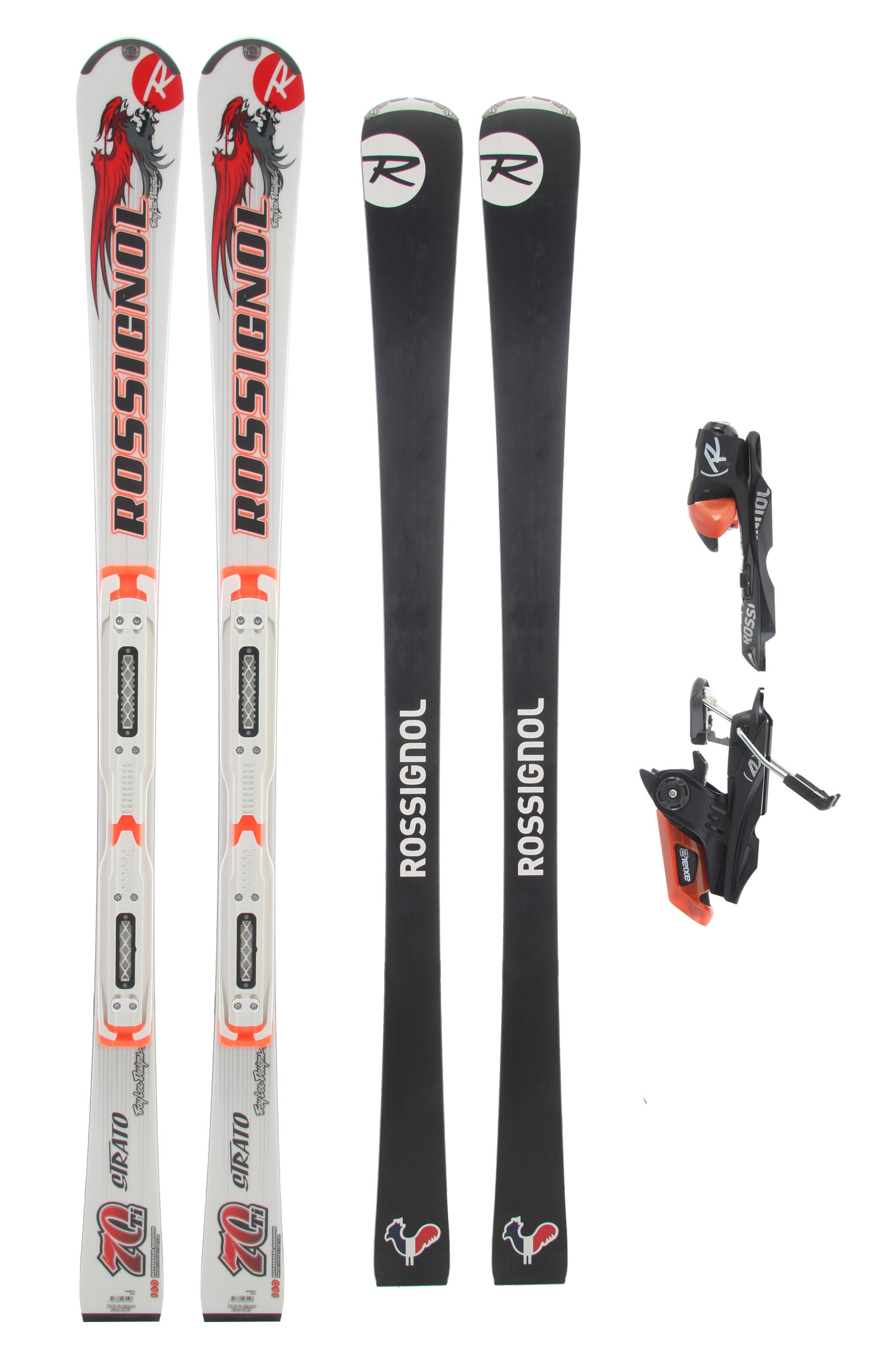 Ski No-holds-barred, WC sandwich construction with Oversize technology to produce the ultimate aggressive frontside, short-turn fall-line ripper. Technical skiers, seeking a powerful and high-performance classic construction ski with a modern, all-mountain sidecut will crave the perfect blend of power and agility of the 70 TI. Troy Lee Designs created the cutting edge artwork for the Strato 70 TI. 100% FrontsideKey Features of the Rossignol Strato 70 LTD TI Tpi2 Skis: Program: 100% PISTE Structure: FIBRO/ METAL Core: WOOD VAS: VAS 100 Reinforcement: TITANAL Tip shape: METAL Shape: RECTANGULAR SANDWICH Key Features of the Rossignol Axial 120S Bindings: DIN: 3.5-12 Toe piece: DUAL ACTION III Glider: AXITEC2 Heel piece: AXIUM II Height interface: TPI2 Toe lateral elasticity: 45 Heel vertical elasticity: 12 Brake width: 64-80mm Length adjustment: 265-377 - $524.95