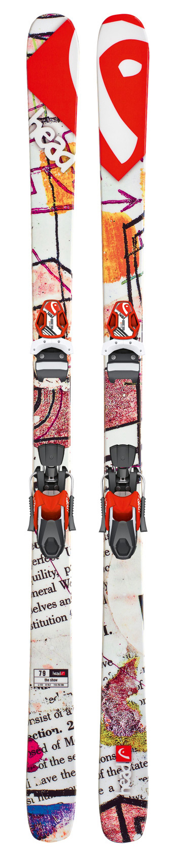 Ski Key Features of the Head The Show Skis w/ Mojo 11 Bindings: Lengths: 154/163/172/181 Dimensions: 112/79/106 @ length 172 Radius: 19.1 @ length 172 Twin Tip Construction Highly Transparent UHM C Base Tuff Wall PNP Rocker Bindings: Mojo 12 Wide 97 Park & Pipe Terrain Head Mojo 11 Ski Bindings DIN 3-11 1670g SX Toe with TRP System Full Diagonal Teflon Wide SX Heel Dura Coating - $314.95