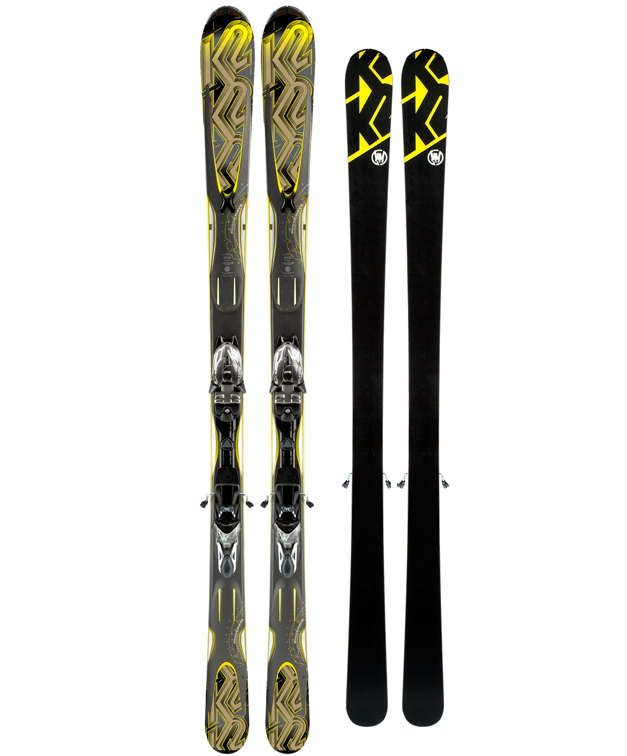 Ski Performance With PowerThe Shockwave offers a smooth blend of performance, forgiveness, and stability. This balance is achieved by combining a versatile 78mm waist width, moderate sidecut, and game changing All-Terrain rocker that helps initiate turns on hard snow and keeps the ski from deflecting in variable snow. The Shockwave will handle all conditions, especially excelling on groomers.Key Features of K2 Shockwave Skis w/ M2 11 TC Bindings: Performance: Groomed: 60% Ungroomed: 40% Radius: 18M@177 Baseline: All-Terrain Rocker - 70% Camber / 30% Rocker Construction: Torsion Box Cap Core: Fir/Aspen Binding Options: Marker K2/M2 11.0 TC - $595.95
