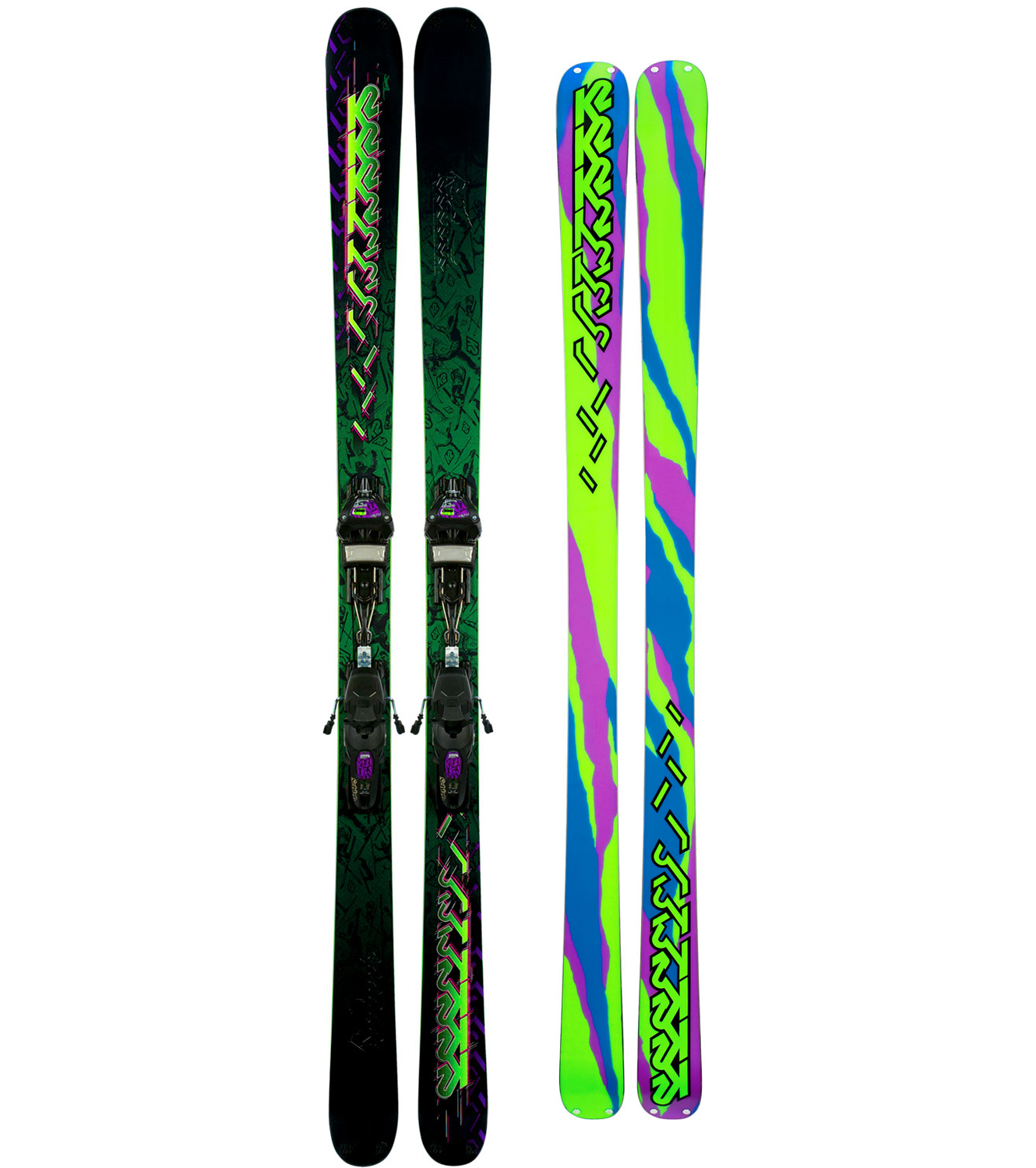 Ski The Extreme has the confidence and stability to rip any terrain and it has the torsional strength and durability to handle the toughest of landings and the most punishing abuse in the park. Emulate PK Hunder's double cork 1080 or just bust out some of the ol' moves on the topsheet. Either way, we'll be proud. Keep it Extreme.Key Features of The K2 Extreme Skis w/ Marker Griffon Schizofran Bindings: Performance: Powder: 40% Park: 60% Sizes: 159, 164, 169, 174, 179, 184 Radius: 21m@ 179/Standard Taper Construction: ABSorb Hybrid Sidewall Core: Fir Binding Options: SchizoFrantic or Flat Stealth Black Rivet Triaxial Braiding Most Badass Display of Aerial Trickery Ever Placed on a Topsheet - $550.95