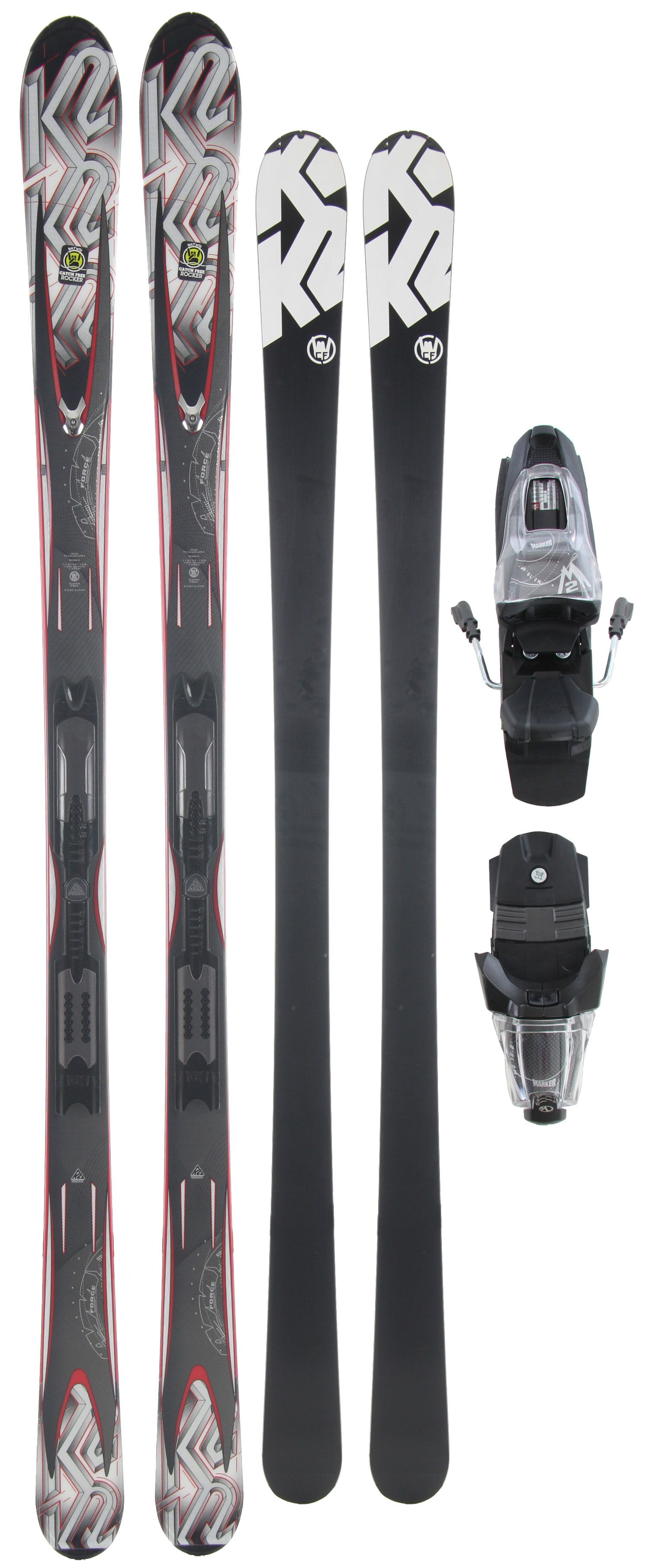 Ski The 2010-11 A.M.P. Force features Catch-Free Rocker technology, which enables the ski to become more maneuverable in and out of the turn but solid and powerful in the middle of the turn for added confidence and control. Geared towards newer or advancing skiers, the additional ease and forgiveness offered by this profile design makes learning to ski easier than ever. The K2 Force is also built with a lightweight composite core that adds to the maneuverability of the ski with a forgiving flex profile focused on ease and fun.Key Features of the K2 A.M.P. Force Skis w/ M2 10.0 Q Bindings: Performance: Groomed, 70%; Ungroomed, 30% Sizes: 149, 156, 163, 170, 177 Radius: 14m@170 Construction: Torsion Box Cap Core: Composite - $297.95