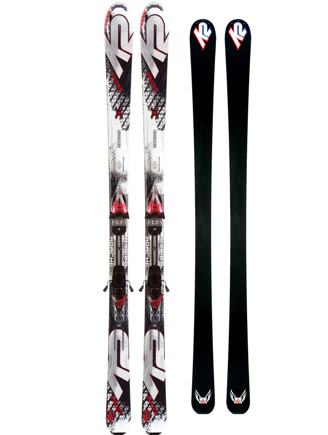 Ski Athletic skiers seeking performance at an exceptional value are going to love the Raider. This versatile ski is built on the proven Recon chassis but in a torsion box construction for added versatility over the entire mountain.Key Features of the K2 Apache Raider Skis w/ Marker IBC 10.0 Bindings: MOD Monic MOD Technology Triaxial Braiding Performance: Ungroomed 50% Groomed 50% Radius: 18m@177 Construction: Torsion Box Cap Core: Fir/Aspen - $527.95