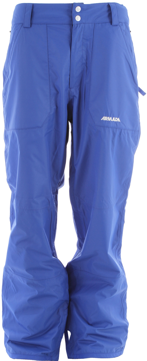 Ski If you want a pair of ski pants that won't rip or tear like all your other ones do, be sure to check out the Armada Runout Ski Pants. The pants feature a 100% sealed seam, perfect for durability and for anyone tired of how easily ski pants rip. The pants also feature a Gusseted Crotch to keep you as comfortable as possible. The Armada Runout Ski Pants are changing the game so don't be the last one to get a pair!  100% Seam Sealed   YKK Zippers   Mesh Lining   Adjustable Inner-Waistband   Gusseted Crotch   No Snag Mesh-lined Inner Leg Vents   Boot Gaiter with Lycra Suspension   Boot Hook   Lower Boot Gussets   Bemis Reinforced Cuff   InterGaiterFace Power Protection (IPP  System - $78.95