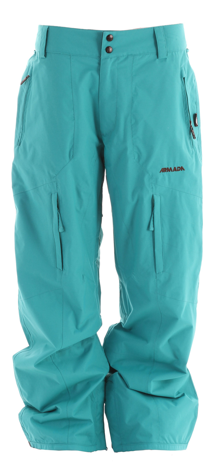 "Ski Armada Torque Ski Pants are part of the Balance series. ""Balance"" as in the perfect balance between function and comfort. ""Balance,"" as in the combination of protection from Armada's custom MegaRex Fabric and breathable warmth from Armada's SuperFlo Lining System. ""Balance,"" as in the broadest range of styles and colorways for every consumer.Key Features of the Armada Torque Ski Pants: 10,000mm Waterproof 10,000g Breathability MegaRex 2L SuperFlo Lining System with JJ Print 100% seam sealed YKK zippers Adjustable inner-waistband Gusseted crotch No snag mesh-lined inner leg vents Boot gaiter with lycra suspension Boot hook Lower boot gussets Bemis reinforced cuff Pant to jacket interface Standard fit - $141.95"