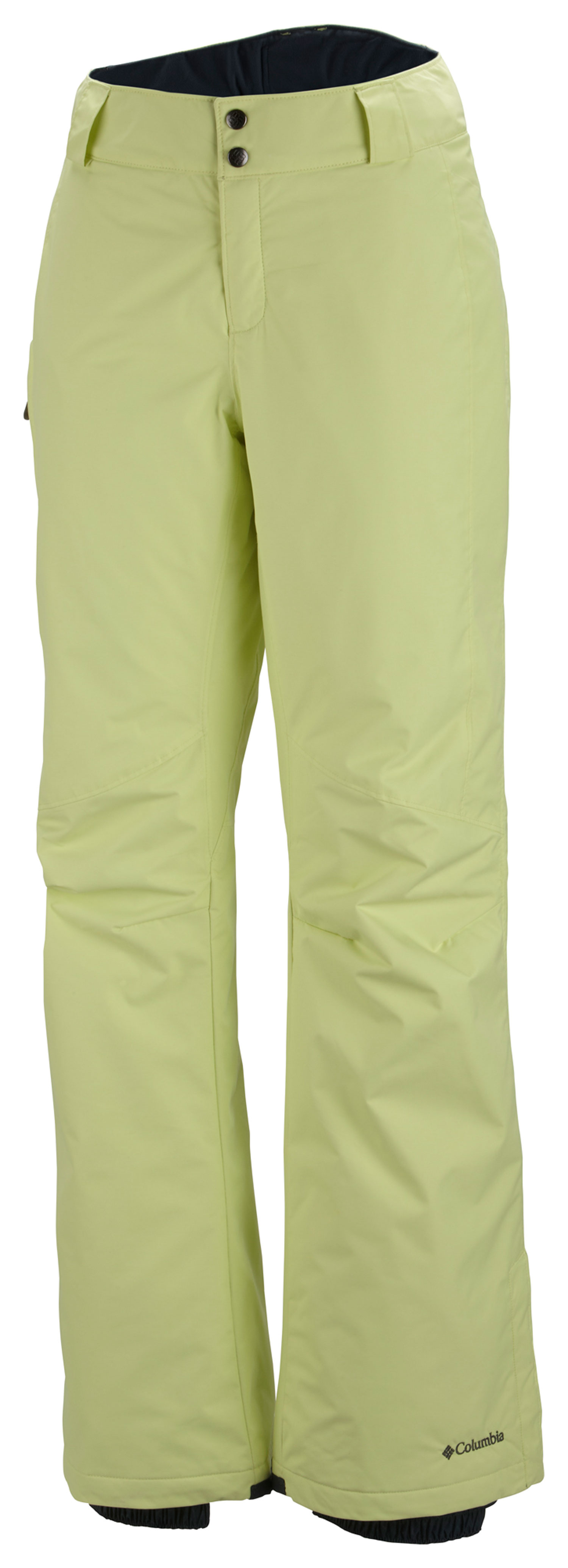 Ski Key Features of the Columbia Bugaboo Ski Pants: FABRIC Shell: 100% nylon Legacy twill. Lining: 100% nylon embossed taffeta. Insulation: 100% polyester Microtemp XF II 60g. FIT Active Omni-Tech™ waterproof/breathable critically seam sealed Adjustable waist Internal, adjustable leg gaiter Reinforced leg hem Lower leg snap gusset Zip-closed pockets - $95.00