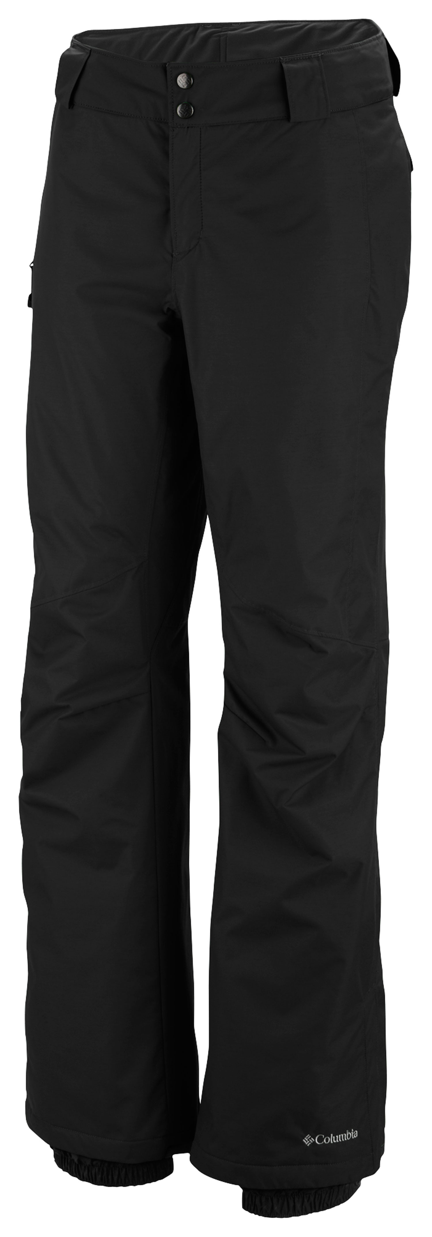 Ski Key Features of the Columbia Bugaboo Ski Pants: FABRIC Shell: 100% nylon Legacy twill. Lining: 100% nylon embossed taffeta. Insulation: 100% polyester Microtemp XF II 60g. FIT Active Omni-Tech™ waterproof/breathable critically seam sealed Adjustable waist Internal, adjustable leg gaiter Reinforced leg hem Lower leg snap gusset Zip-closed pockets - $66.95