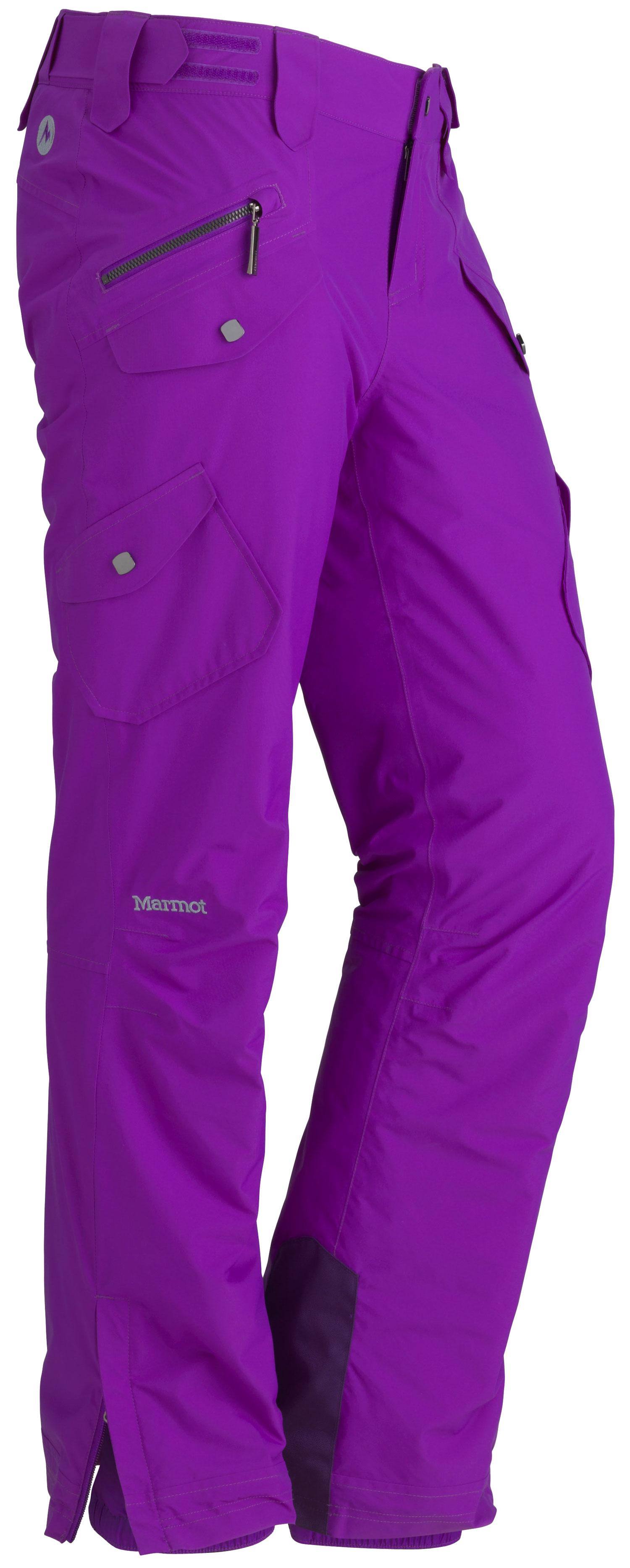 Ski Lead the Divine to powder and watch the hard-charging pant shred it. The trim-fitting, waterproof snow pant has MemBrain two-layer construction, zippered leg vents and internal gaiters that take care of business. A boot cut, flapped cargo pockets and low-rise front handle the style details.Key Features of the Marmot Divine Ski Pants: Marmot MemBrain® Waterproof/Breathable Fabric 100% seam taped 2-layer construction Flapped Hand Pockets Flapped Cargo Pockets Inseam Zippered Leg Vents Adjustable Waist with Snap Closure and Zip Fly Reversed Brushed Tricot Seat and Thighs Internal Gaiters with Gripper Elastic Ankle Zippers Cordura® Scuff Guard - $175.00