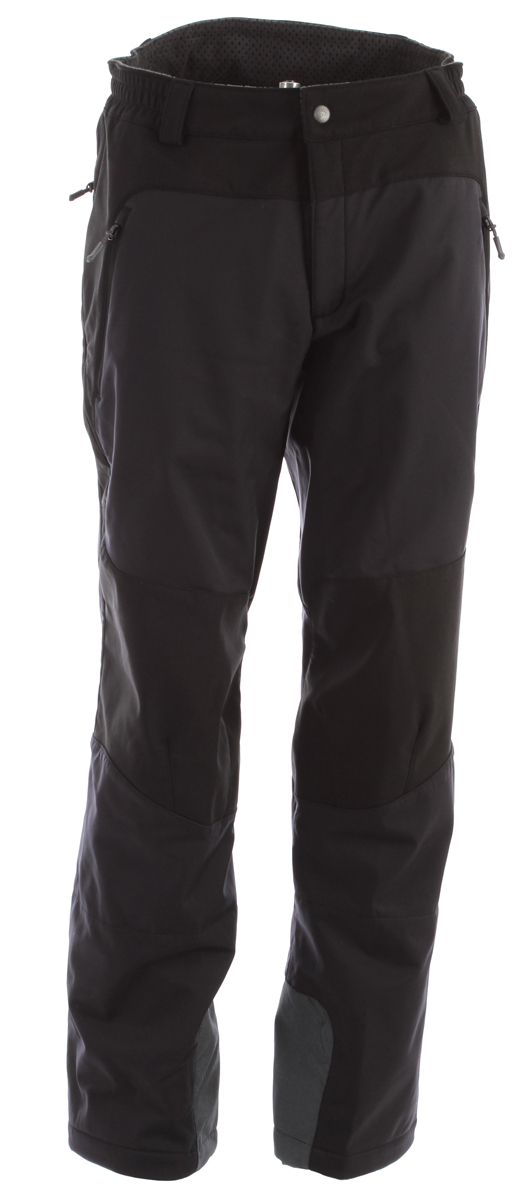 Ski Sporty Soft Shell touring pants with pleasantly warming fleece lining and technically thought-out details.Key Features of the Mammut Alto Pants Ski Pants: Water-resistant outer material High comfort thanks to full stretch material 2 side pockets with zips Seat pocket with zip Side ventilation with mesh inserts Elastic reinforcement on knees and seat sections Pre-shaped knees Integrated gaiters Zipper on cuff to adjust opening Edge and crampon protection with robust reinforcement material Regular Fit - $124.95