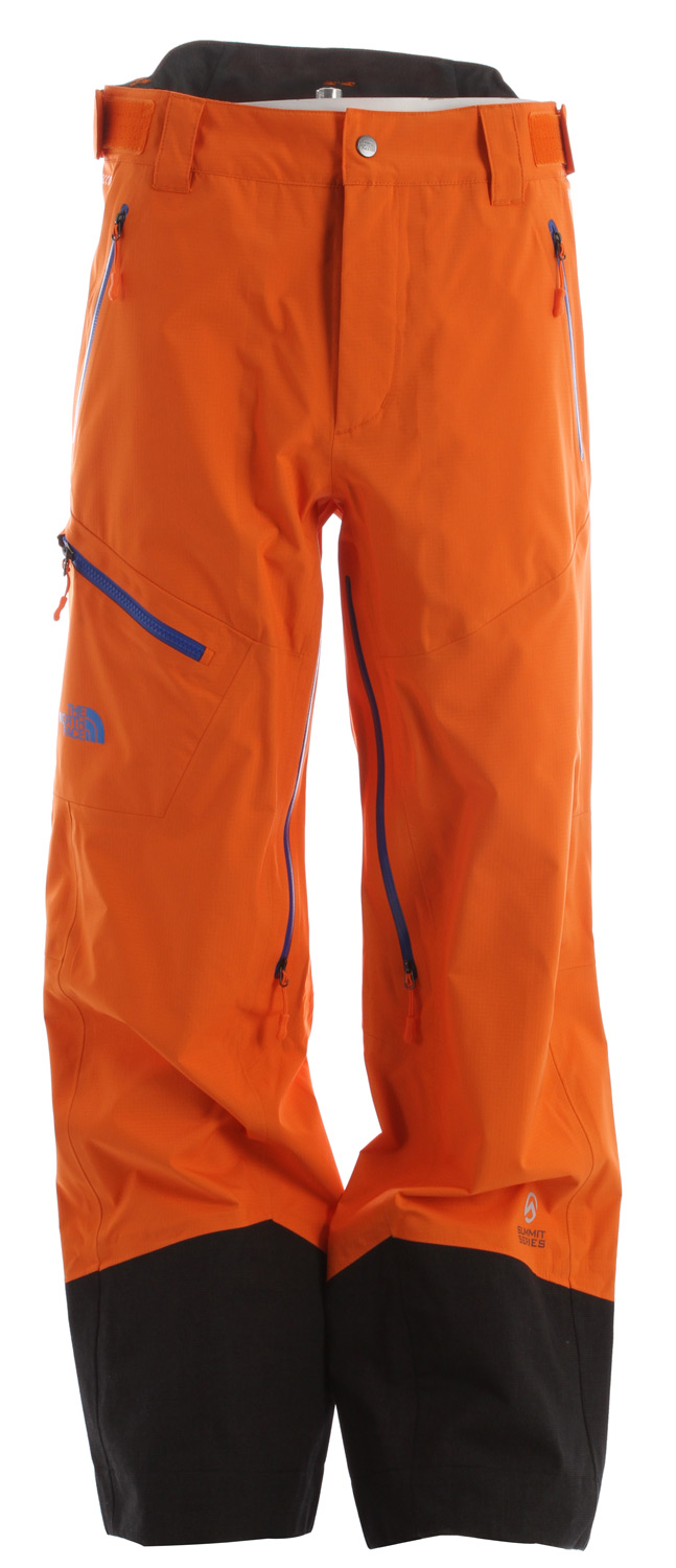 "Ski Clean lines, an alpine fit and waterproof, breathable GORE-TEX 3L protection offer highly versatile performance inbounds or out.Key Features of the The North Face Enzo Shell Ski Pants: Avg Weight: 650 g (22.93 oz) Center Back: 29.5"" Fabric: 40D 118 g/m2—100% nylon 3L GORE-TEX® Pro ripstop weave with a micro grid woven backer Waterproof, breathable, fully seam sealed Recco® avalanche rescue reflector VISLON® CF zip Helmet-compatible fixed hood Polyurethane (PU) core vents Polyurethane (PU) handwarmer zip pockets Polyurethane (PU) zip chest pocket Polyurethane (PU) zip bicep utility pocket with goggle cloth Internal media security pocket Internal utility pocket Powder skirt Pant-a-locks Adjustable hem system Adjustable cuff tabs - $278.95"