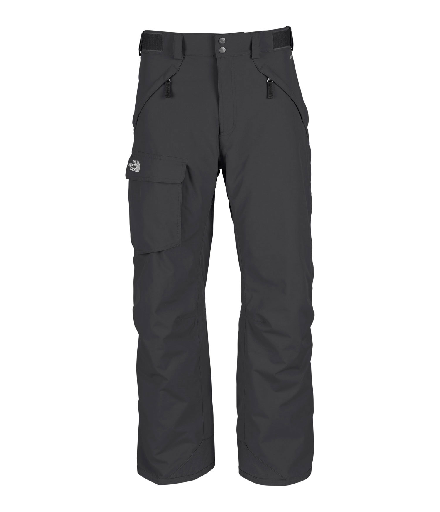 "Ski Free-fitting, high-performance pant with durable, waterproof construction. Key Features of The North Face Freedom Shell Ski Pants: Avg Weight: 770 g (27.16 oz) Inseam: S 29"", R 31"", L 33"" Fabric: 210D x 235D 189 g/m2 HyVent® 2L foxfaille nylon faille Waterproof, breathable, fully seam sealed Adjustable waist tabs Handwarmer zip pockets Exterior thigh vents with mesh gussets Flap cargo pocket StretchVent ™ gaiter with gripper elastic Chimney Venting™ system Reinforced cuff - $140.00"