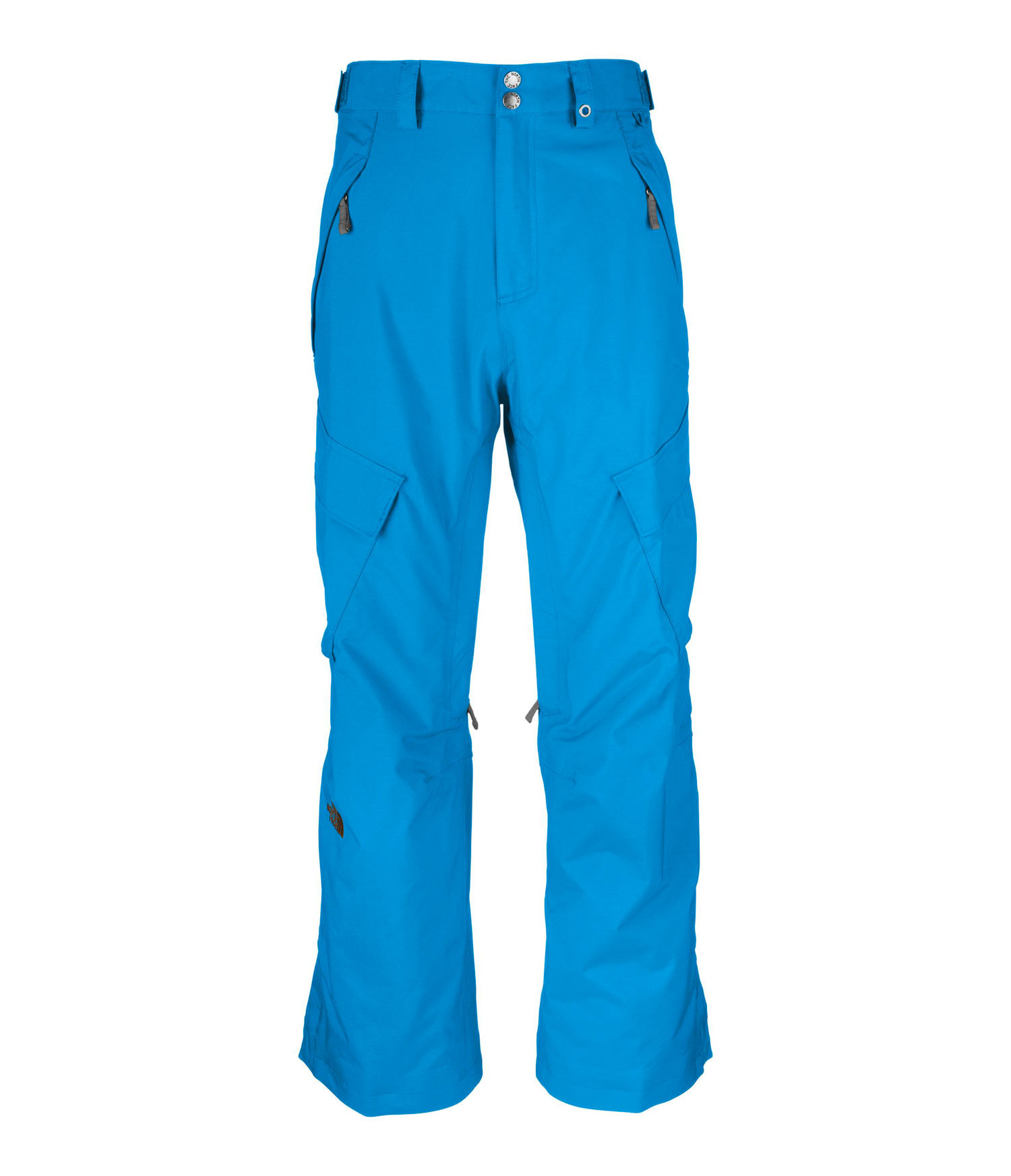 "Ski Straightforward all-around winter protection built with waterproof, breathable HyVent and an insulated seat and knees. Key Features of The North Face Slasher Cargo Ski Pants: Avg Weight: 820 g (28.92 oz) Inseam: R 31"", L 33 Fabric: shell: HyVent® 2L proweave Lining: Thermoliner seat and knees, mesh Adjustable waist tabs Zip handwarmer pockets Flap cargo pockets with Lot Lift System Zip inner thigh vents with mesh gussets Back pockets Gaiter with gripper elastic and boot hook Snap-cuff gussets Reinforced edge guards - $111.95"