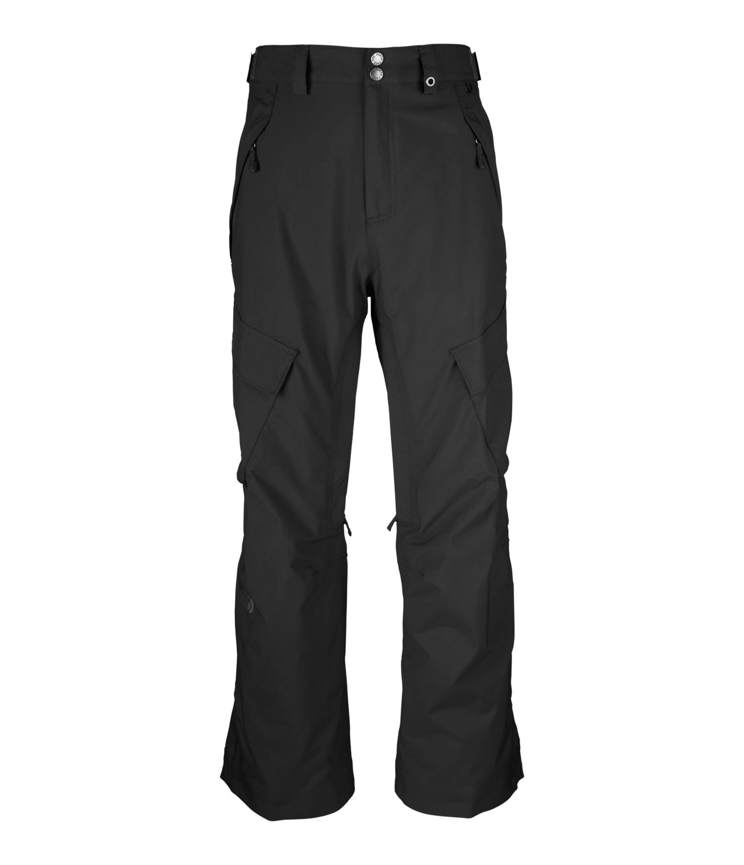 "Ski Straightforward all-around winter protection built with waterproof, breathable HyVent and an insulated seat and knees. Key Features of The North Face Slasher Cargo Ski Pants: Avg Weight: 820 g (28.92 oz) Inseam: R 31"", L 33 Fabric: shell: HyVent 2L proweave Lining: Thermoliner seat and knees, mesh Adjustable waist tabs Zip handwarmer pockets Flap cargo pockets with Lot Lift System Zip inner thigh vents with mesh gussets Back pockets Gaiter with gripper elastic and boot hook Snap-cuff gussets Reinforced edge guards - $111.95"