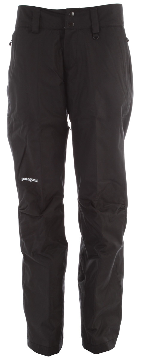 Ski The updated Insulated Snowbelle Pants will keep you dry and warm all day with their soft and durable 2-layer polyester fabric, waterproof/breathable H2No barrier and compressible, stay-warm-when-wet Thermogreen insulation.Key Features of the Patagonia Insulated Snowbelle Ski Pants: fabric: Shell: 2-layer, 5-oz 150-denier 100% polyester herringbone weave with a waterproof/breathable H2No barrier and a Deluge® DWR (durable water repellent) finish. Lining: 2-oz 100% polyester plain weave. Insulation: 60-g Thermogreen 100% polyester (90% recycled). Gaiters: 2-oz 100% polyester plain weave with a DWR finish Soft and durable 2-layer polyester fabric with herringbone weave has a waterproof/breathable H2No barrier for storm protection Waist details: Soft, brushed tricot lining wicks moisture; adjustable elastic tabs customize the fit; two-snap closure and zip fly Loops on rear yoke securely attach pants to powder skirt on any Patagonia® Snow jacket to keep snow out Articulated knees improve mobility and reduce bulk; internal thigh vents quickly release heat Gaiters keep the snow out, while tough scuff guards protect inside of leg and bottom hem Zippered pockets: Two handwarmers - $138.95