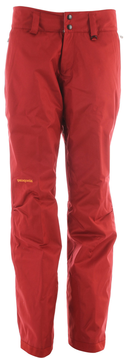 Ski The updated Insulated Snowbelle Pants will keep you dry and warm all day with their soft and durable 2-layer polyester fabric, waterproof/breathable H2No barrier and compressible, stay-warm-when-wet Thermogreen insulation.Key Features of the Patagonia Insulated Snowbelle Ski Pants: fabric: Shell: 2-layer, 5-oz 150-denier 100% polyester herringbone weave with a waterproof/breathable H2No barrier and a Deluge DWR (durable water repellent) finish. Lining: 2-oz 100% polyester plain weave. Insulation: 60-g Thermogreen 100% polyester (90% recycled). Gaiters: 2-oz 100% polyester plain weave with a DWR finish Soft and durable 2-layer polyester fabric with herringbone weave has a waterproof/breathable H2No barrier for storm protection Waist details: Soft, brushed tricot lining wicks moisture; adjustable elastic tabs customize the fit; two-snap closure and zip fly Loops on rear yoke securely attach pants to powder skirt on any Patagonia Snow jacket to keep snow out Articulated knees improve mobility and reduce bulk; internal thigh vents quickly release heat Gaiters keep the snow out, while tough scuff guards protect inside of leg and bottom hem Zippered pockets: Two handwarmers - $138.95