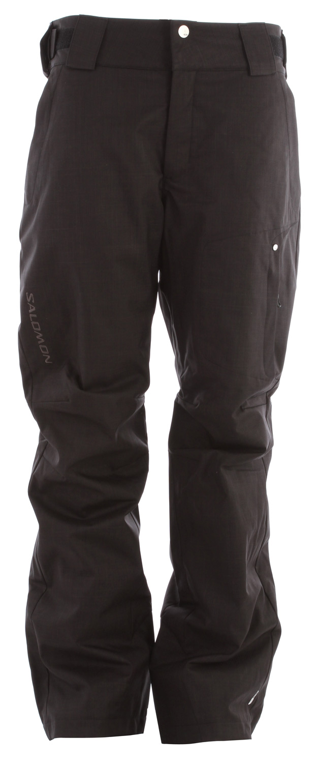 Ski Insulated pant with structured, twill like fabric, one thigh pocket and active fitKey Features of the Salomon Express II Ski Pants: Climapro 10k/10k Actiloft Insulated 60gr/m 2 Hand zipper pockets Active fit - $104.95