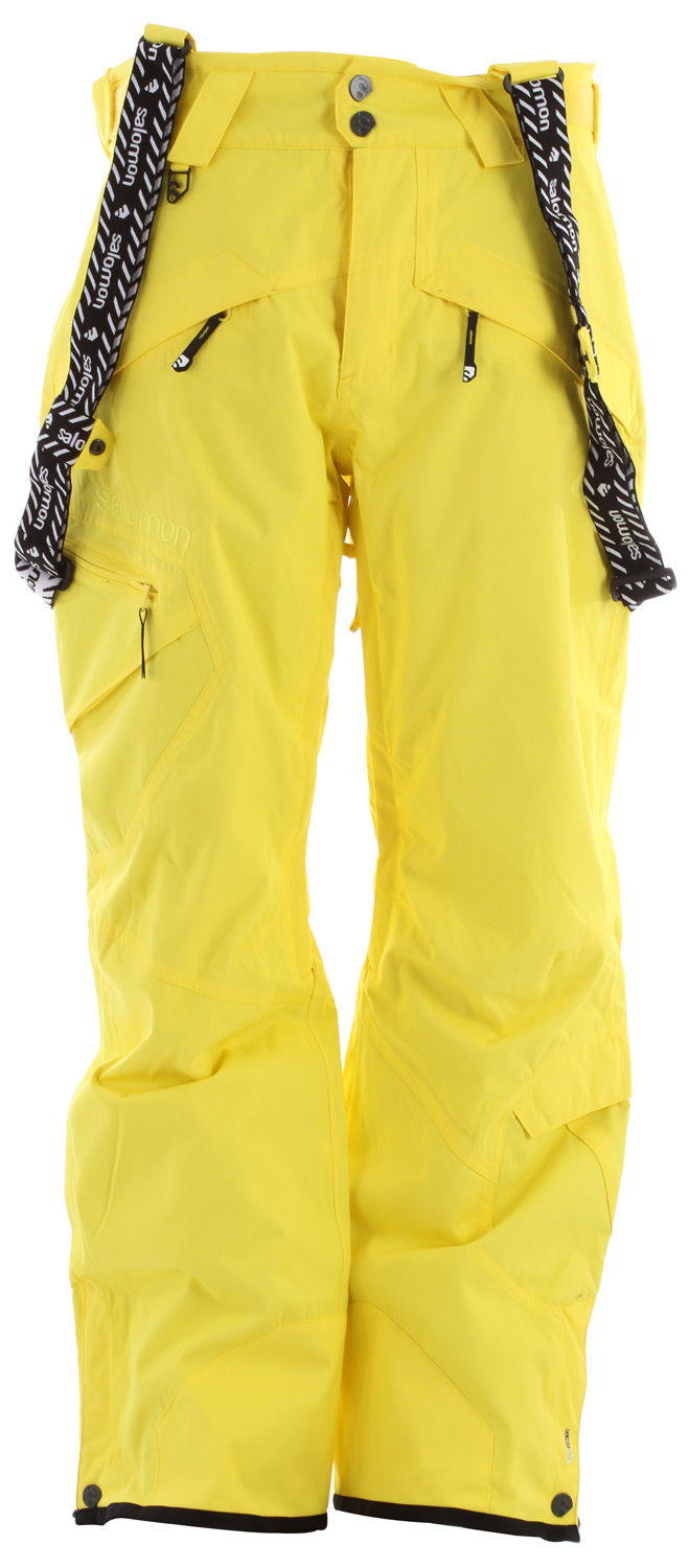 Ski Lightly insulated pant, matching with the Reflex jacket. Equipped with removable suspenders for freeskier who like to wear'em big.Key Features of the Salomon Reflex II Ski Pants: ClimaPRO 10k/10k Actiloft Insulation 40gr/M 100% Taped Inner leg air vents with mesh lining Relax fit - $132.95