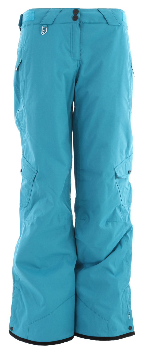 Ski Technical features meets freeski style in this pant for girls with inner leg vents and two low cargo pocket.Key Features of the Salomon Reflex II Ski Pants: ClimaPro 5K/5K Actiloft insulation 40gr/M 100% Taped Inner leg air vents with mesh backing Relax fit - $132.95