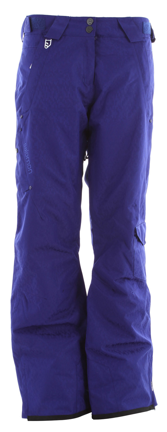 Ski Designed to match the Exposure jacket , this freeski pant has a soft face fabric legs vents and light insulation.Key Features of the Salomon Superstition Ski Pants: Climapro 10k/10k Actiloft insulation 60gr/M 100% Taped Inner leg vents with mesh backing Relax fit - $150.95