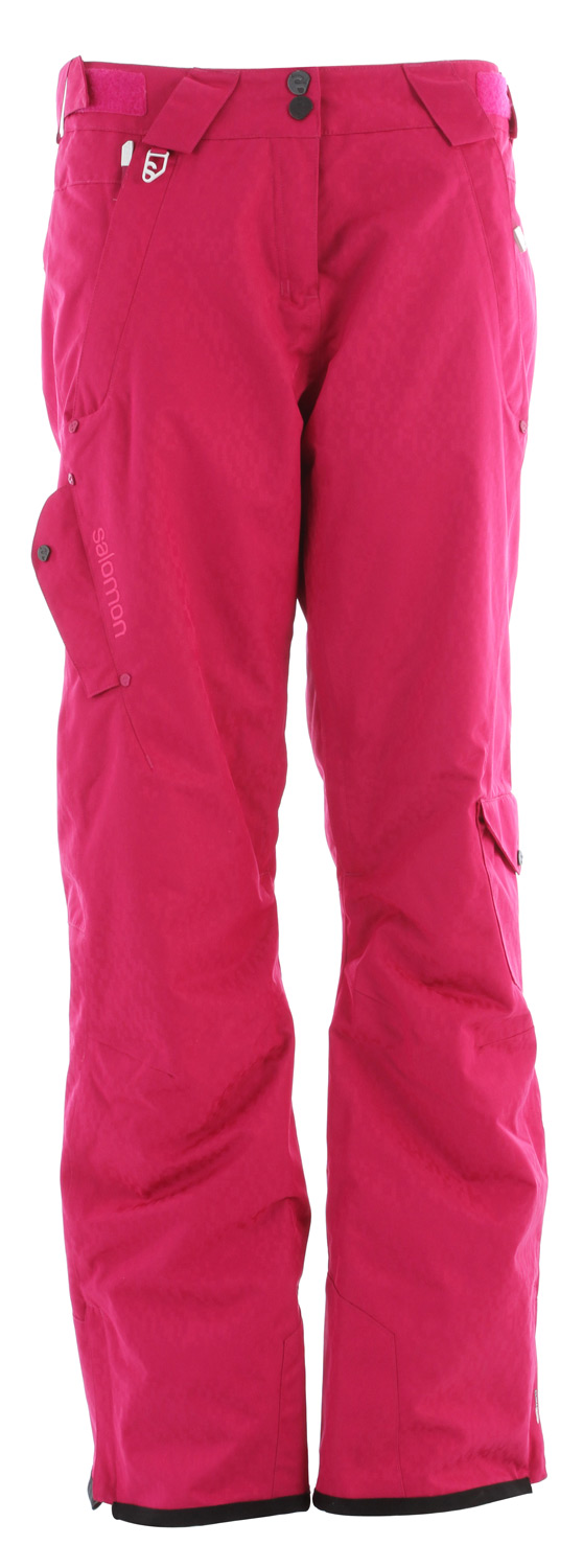 Ski Designed to match the Exposure jacket , this freeski pant has a soft face fabric legs vents and light insulation.Key Features of the Salomon Superstition Ski Pants: Climapro 10k/10k Actiloft insulation 60gr/M 100% Taped Inner leg vents with mesh backing Relax fit - $153.95