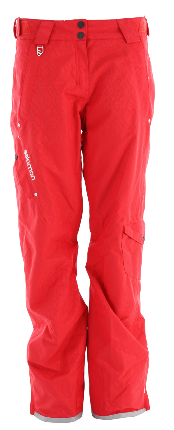 Ski This Salomon Supernatural II Ski Pant is a stylish, relaxed fitting pant with unique pixel design fabric with full features combines performance and style.Key Features of the Salomon Superstition Ski Pants: ClimaPRO ActiLOFT Insulation 60gr 100% Taped Inner leg air-vents with mesh backing Padding: PES 100% Lining Insert: PES 100% Lining: PA 100% Body: PES 100% Fit: Relax - $149.95