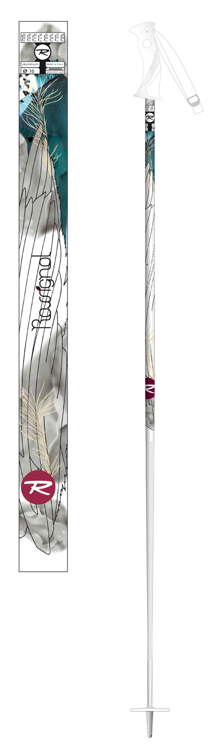 Ski Key Features of the Rossignol Temptation Light Ski Poles: Shaft : 5086 Alloy Grip : Axium Basket : 70mm - $27.95