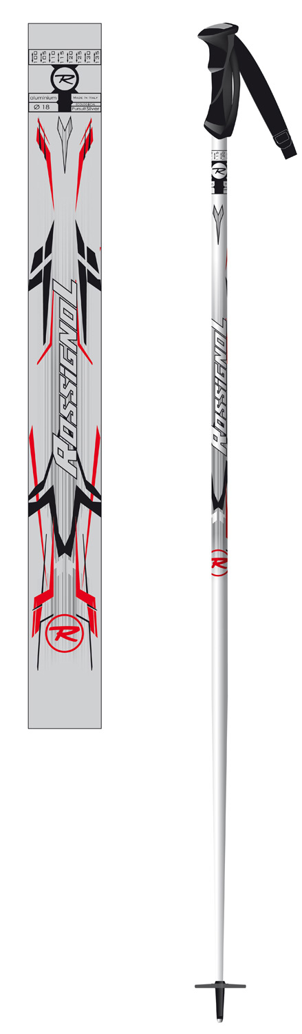 Ski Key Features of the Rossignol Pursuit Ski Poles: Shaft : 5086 Alloy Grip : Axium Basket : 70mm - $26.00