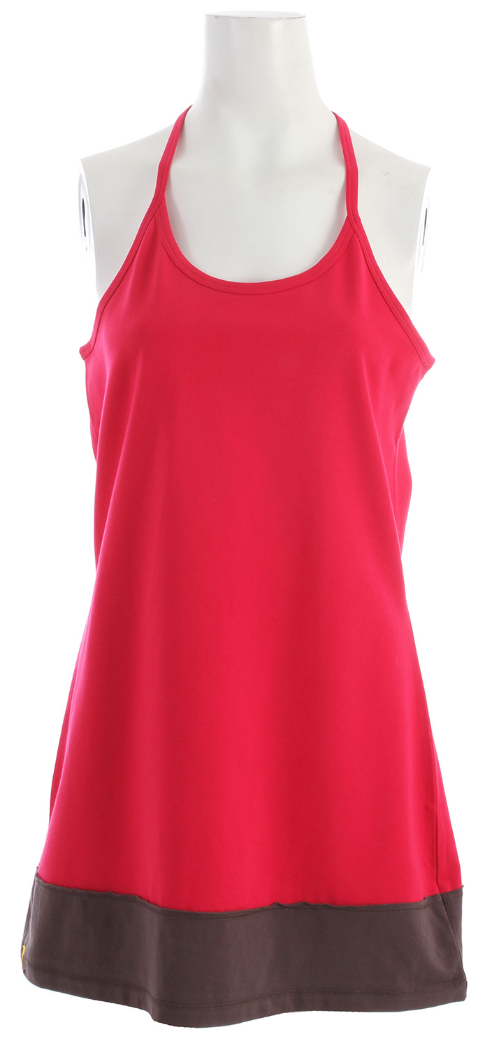 "Entertainment Key Features of the Lole Magnolia Dress: Fashion racer back tank Tunic Length 32"" 81 cm - $38.95"