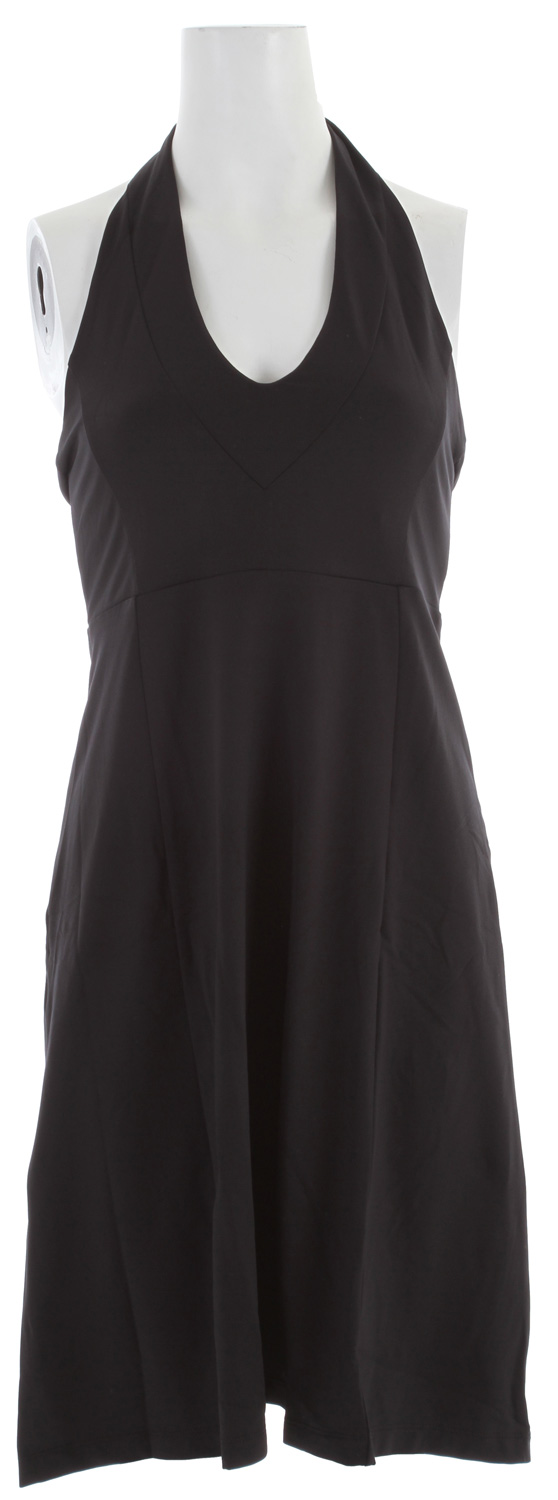 Entertainment A feminine halter dress that can be worn alone or over tights; made of a versatile, wrinkle-free nylon/spandex fabric blend. fabric: 7-oz 86% nylon/14% spandex smooth-faced jersey knit with moisture-wicking performanceKey Features of the Patagonia Morning Glory Dress: - $75.00